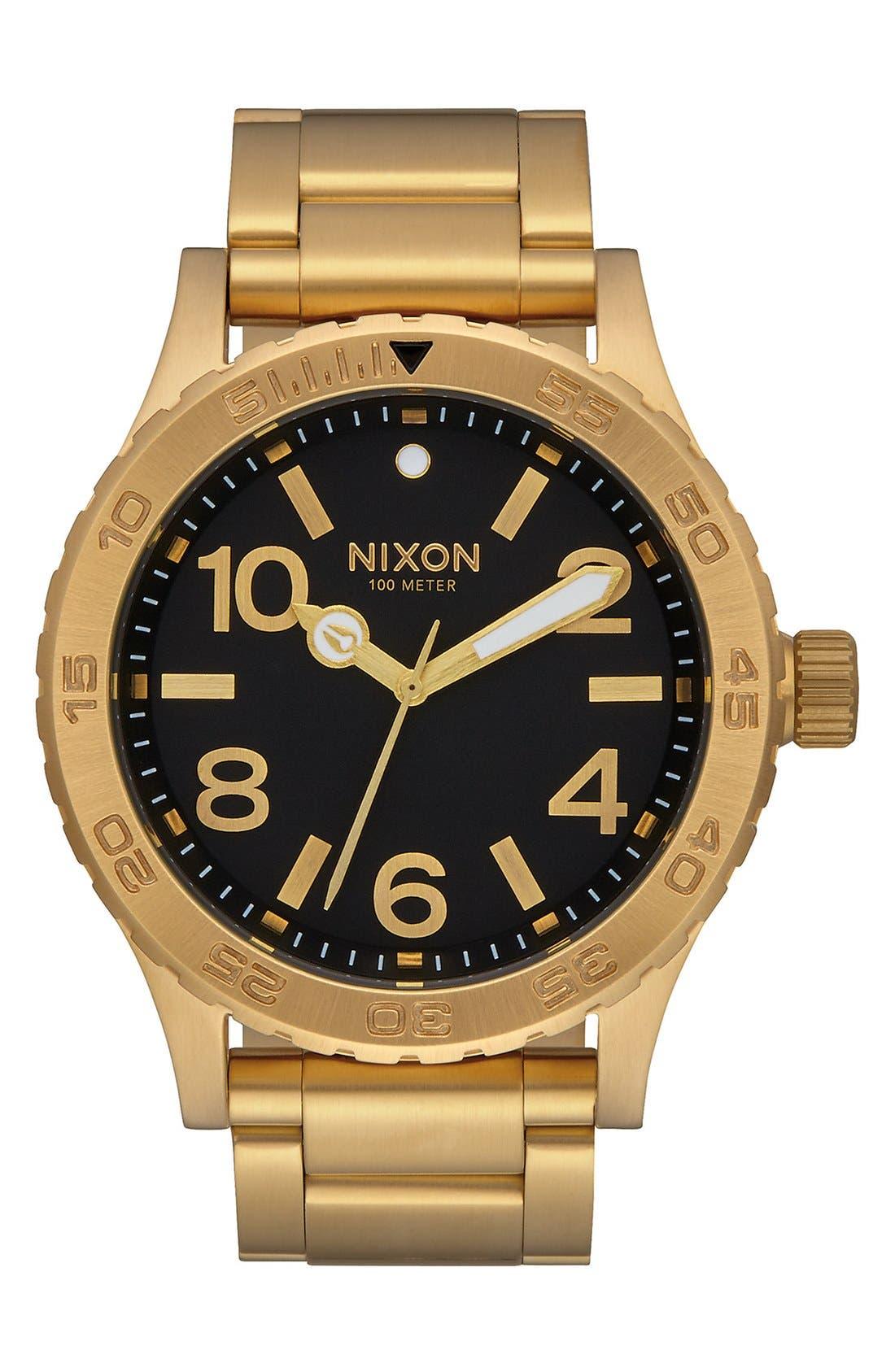 Bracelet Watch, 46mm,                             Main thumbnail 1, color,                             GOLD/ BLACK