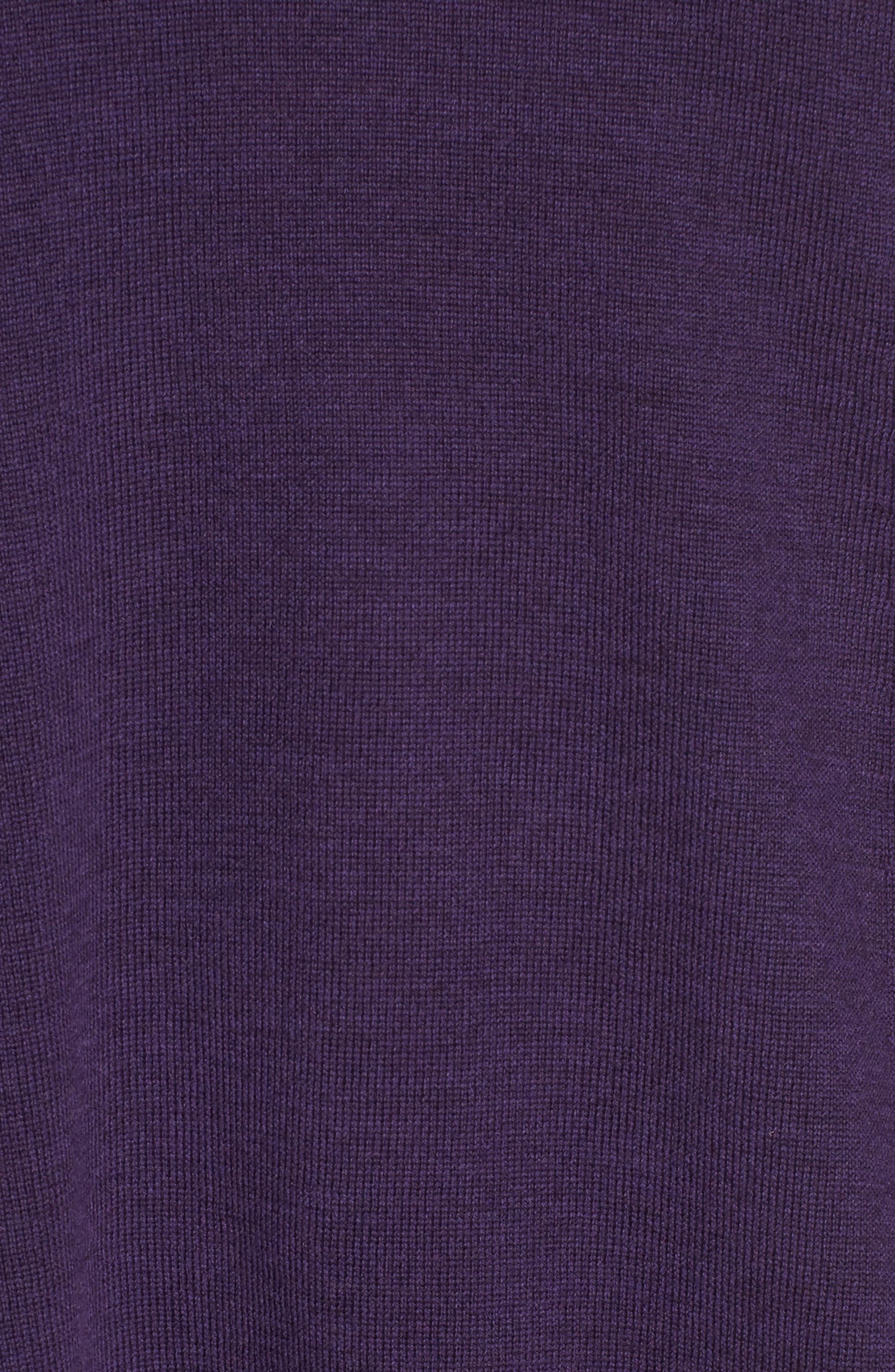 Lightweight Merino Jersey V-Neck Tunic,                             Alternate thumbnail 88, color,