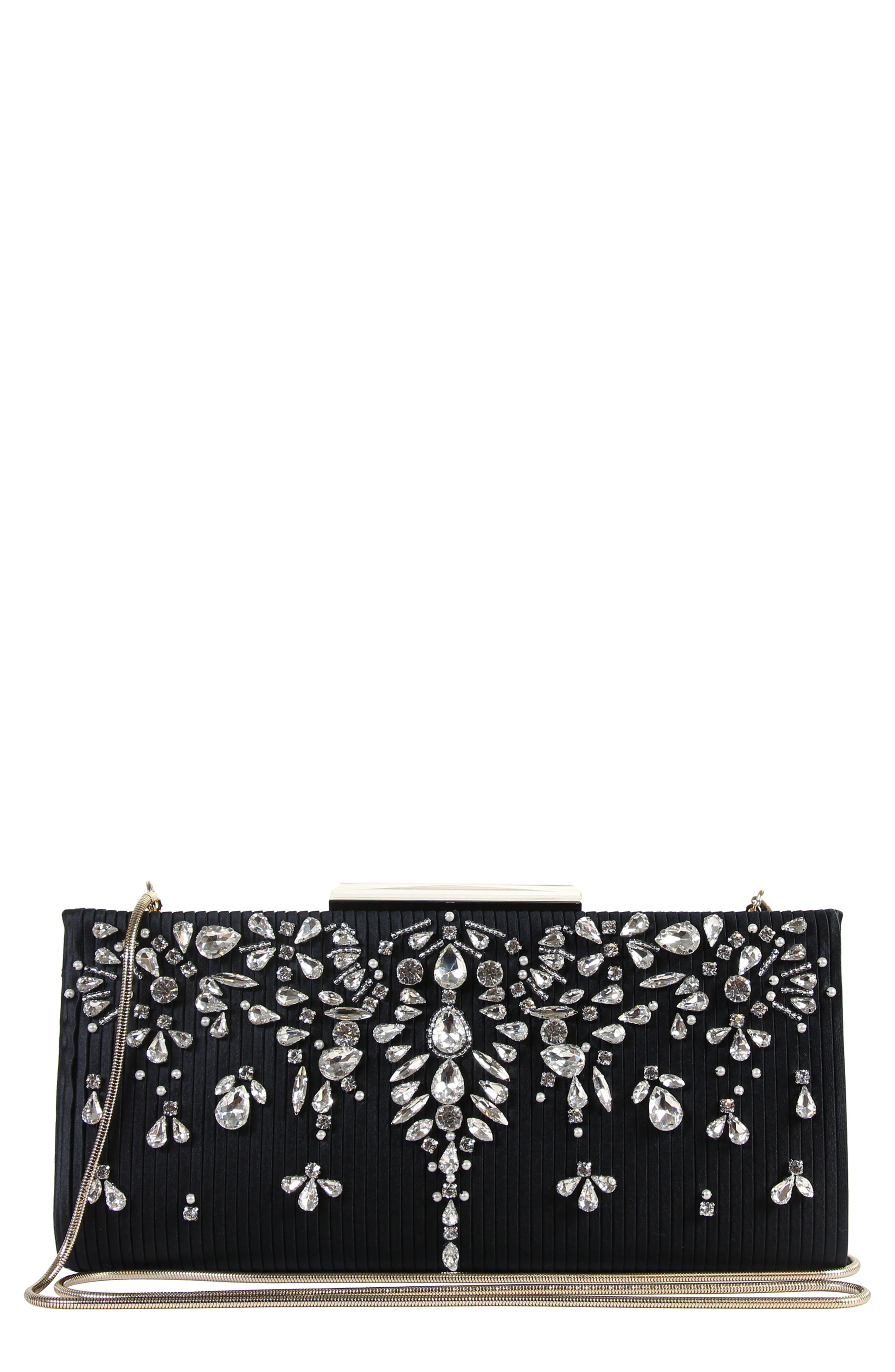 Gale Embellished Clutch,                             Main thumbnail 1, color,                             001