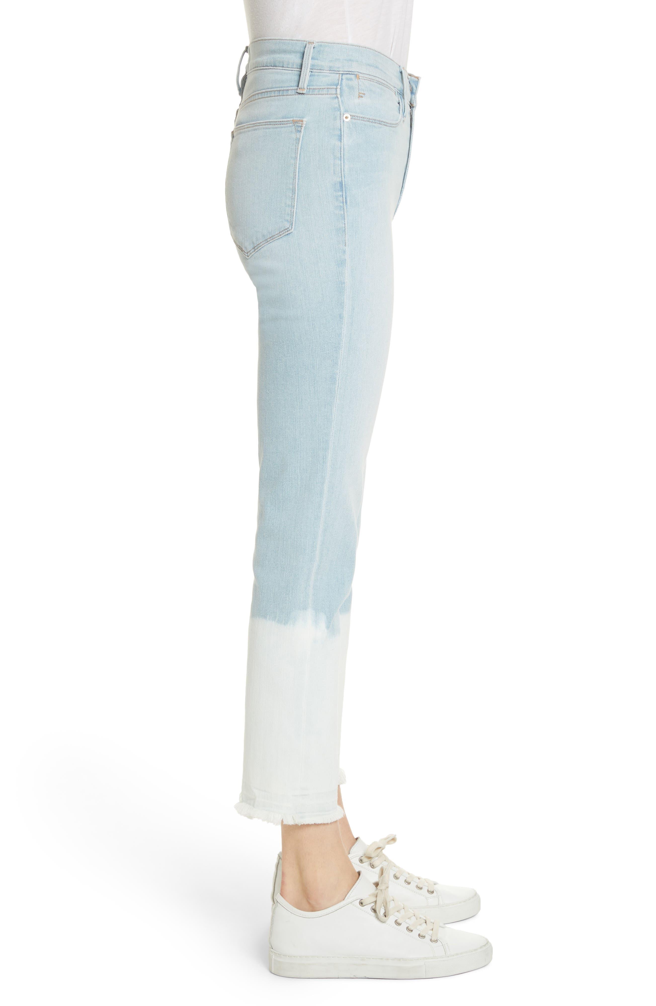 Le High Crop Straight Leg Jeans,                             Alternate thumbnail 3, color,                             450