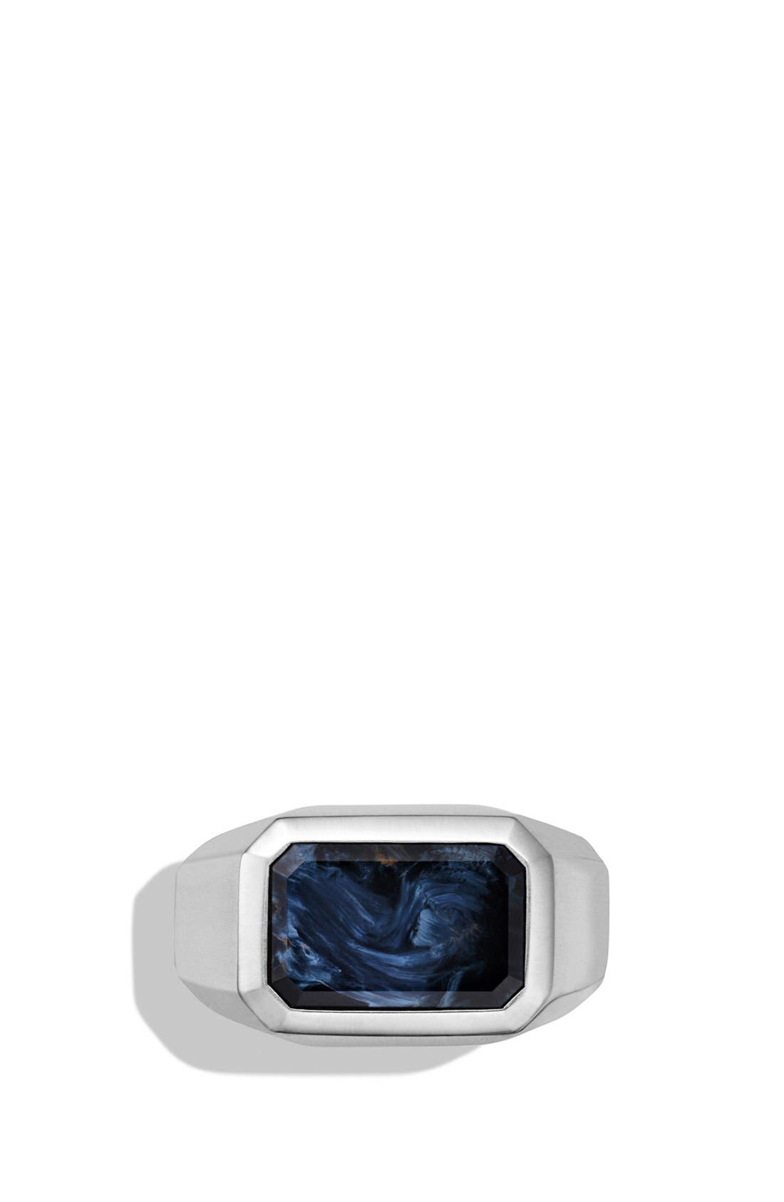 'Exotic Stone' Signet Ring with Semiprecious Stone,                             Alternate thumbnail 2, color,                             PIETERSITE