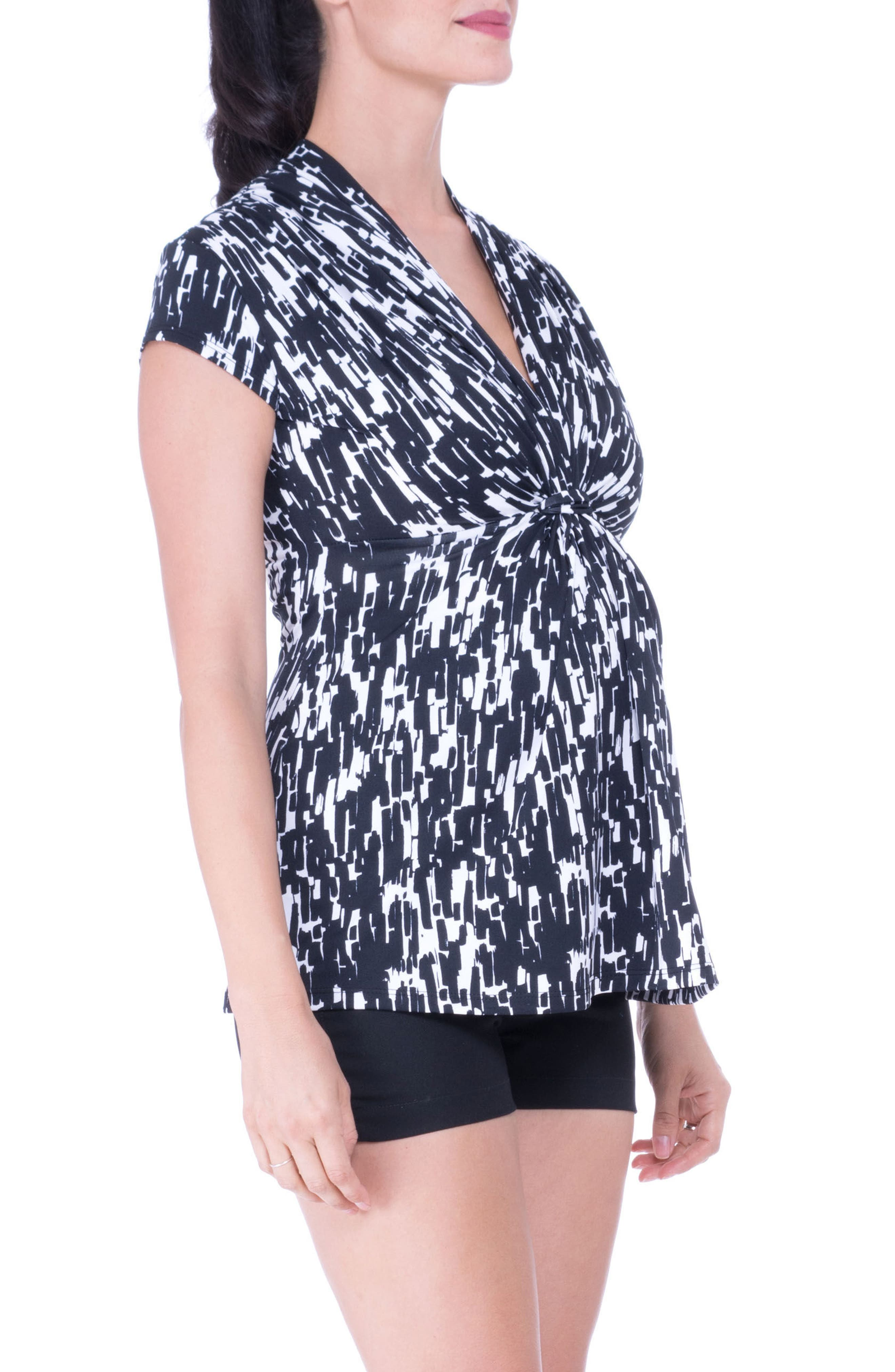 Knot Maternity Top,                             Alternate thumbnail 3, color,