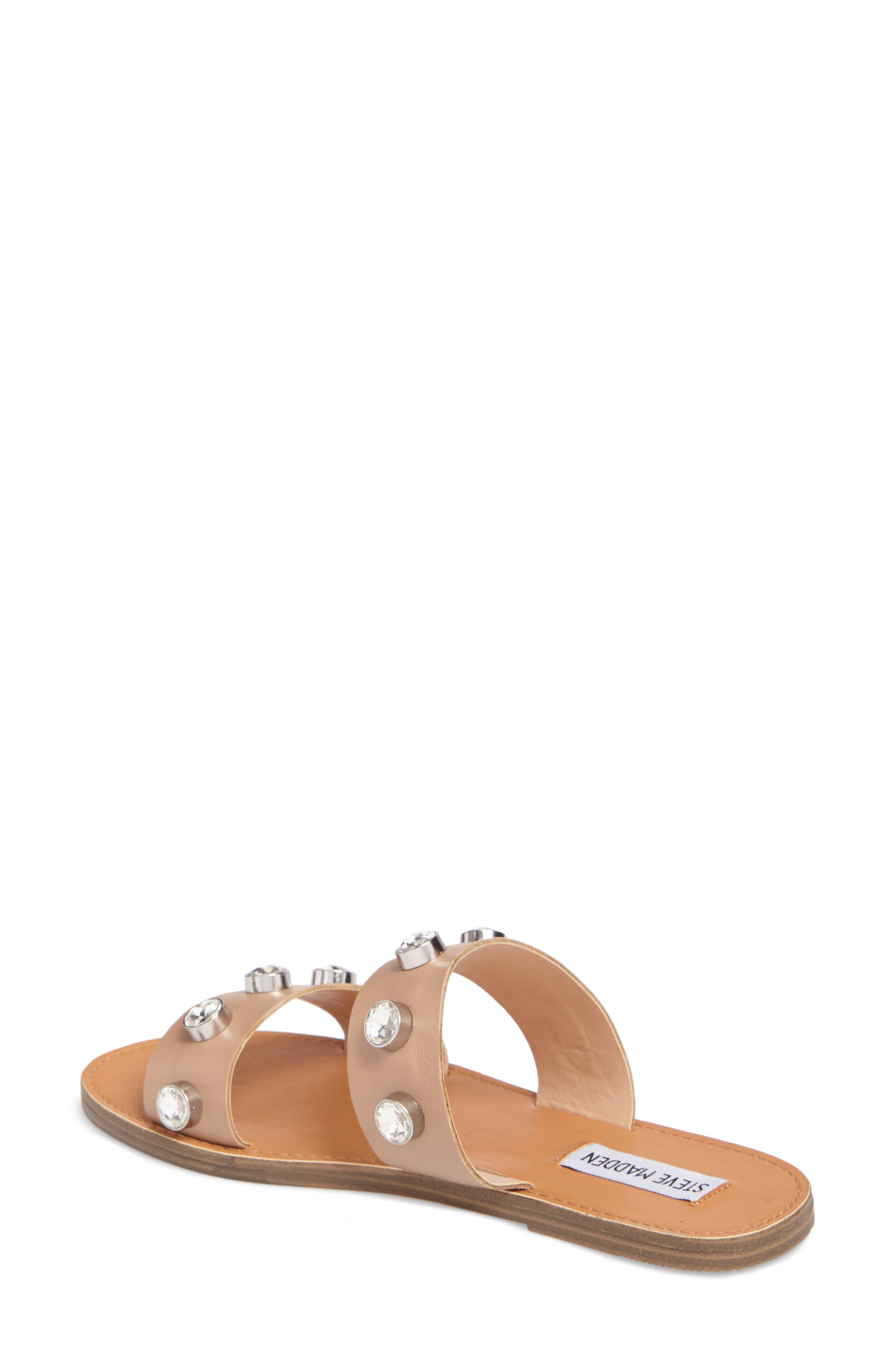 Jessy Embellished Slide Sandal,                             Alternate thumbnail 4, color,