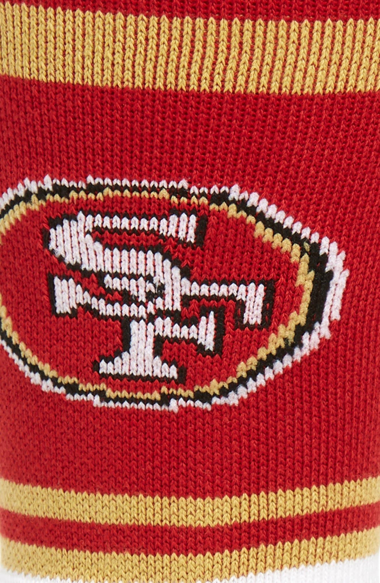 San Francisco 49ers Socks,                             Alternate thumbnail 2, color,                             RED