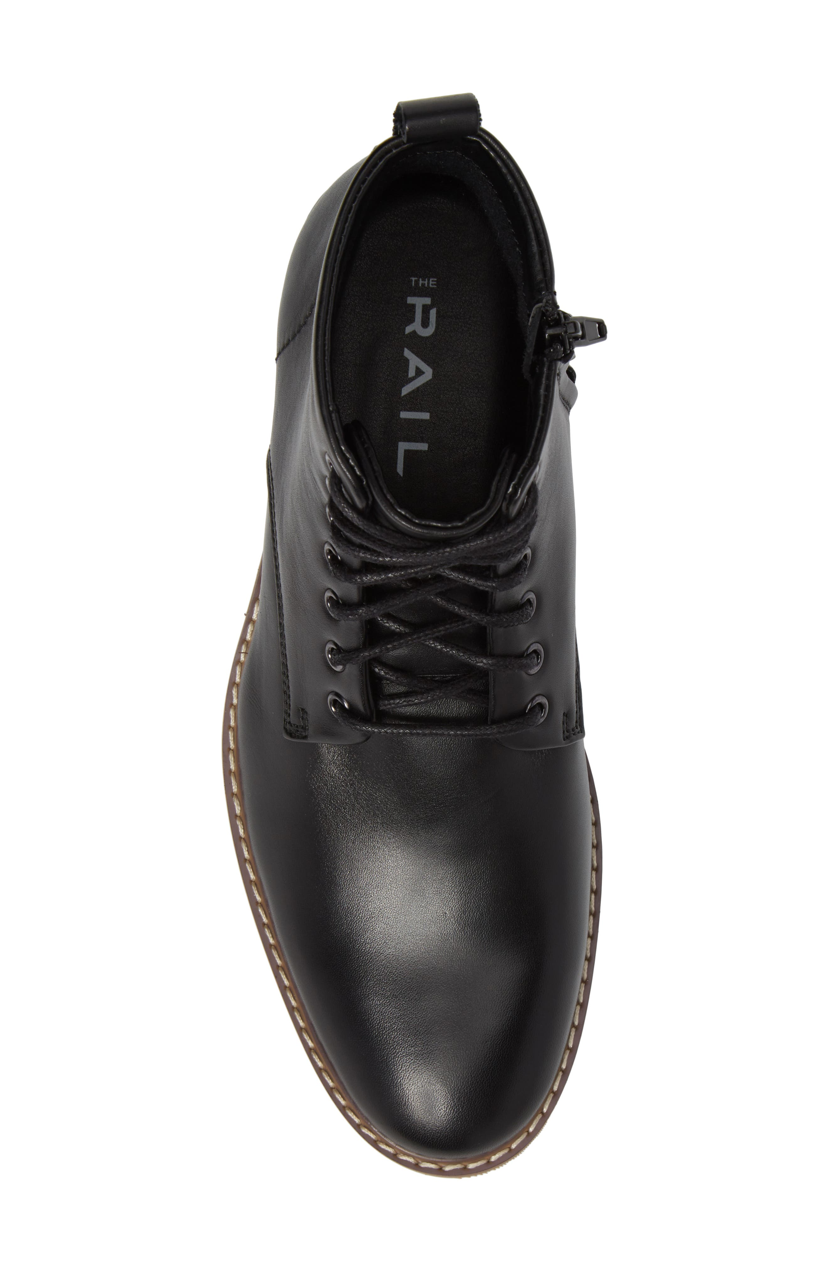 Albany Plain Toe Boot,                             Alternate thumbnail 5, color,                             BLACK LEATHER