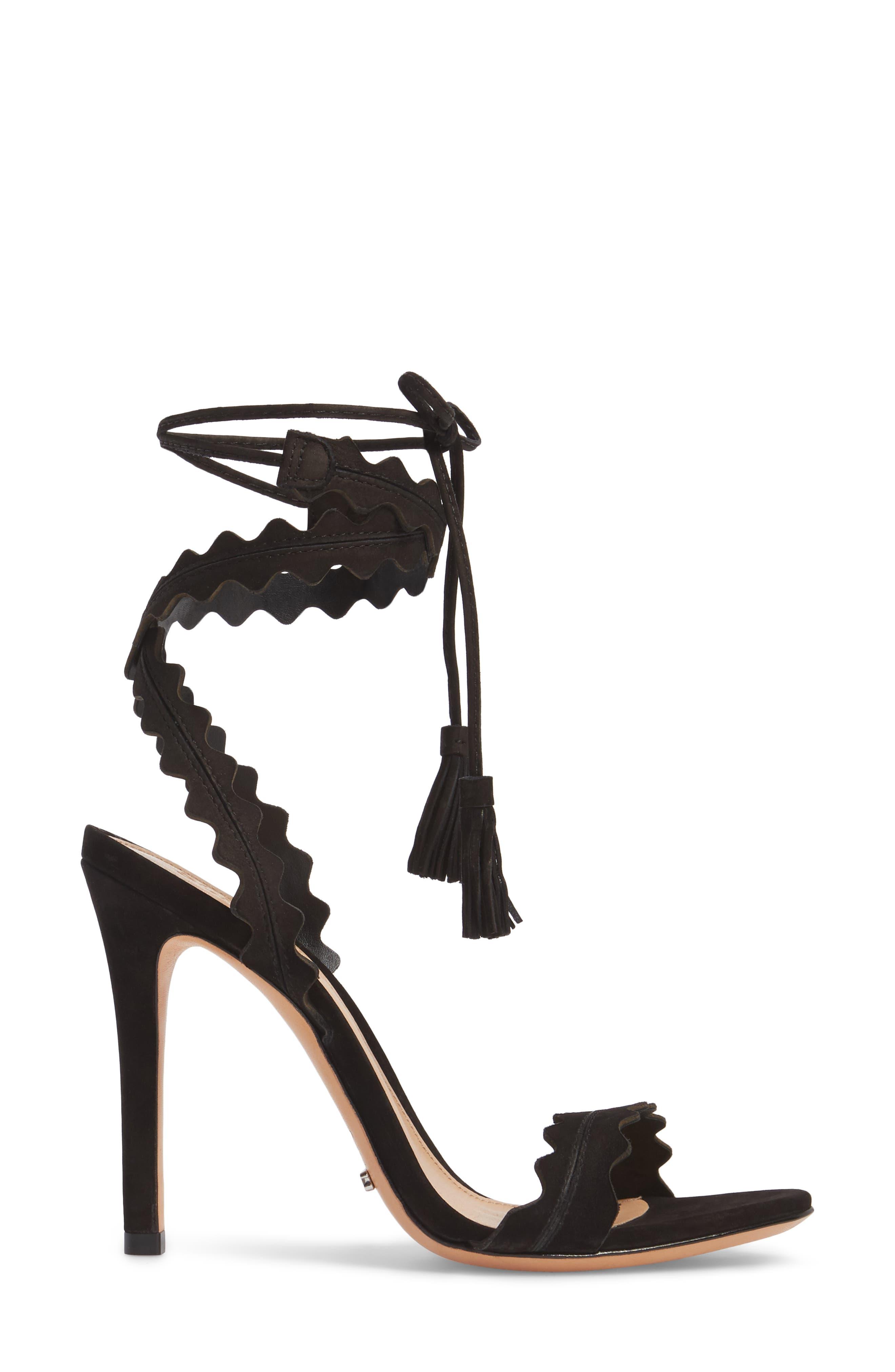 Lisana Wraparound Sandal,                             Alternate thumbnail 3, color,                             014