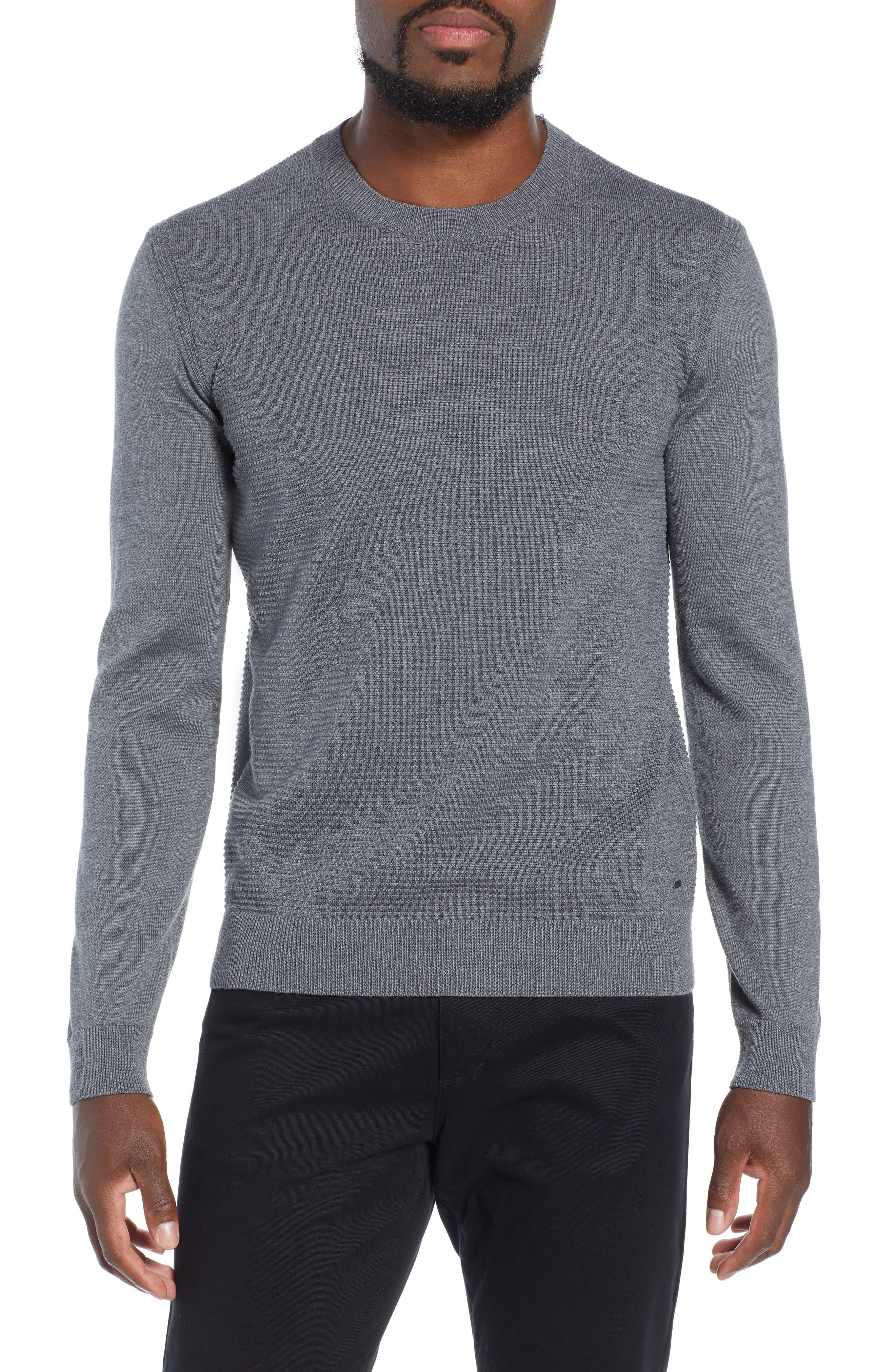 BOSS Ellegri Regular Fit Wool Pullover, Main, color, 030