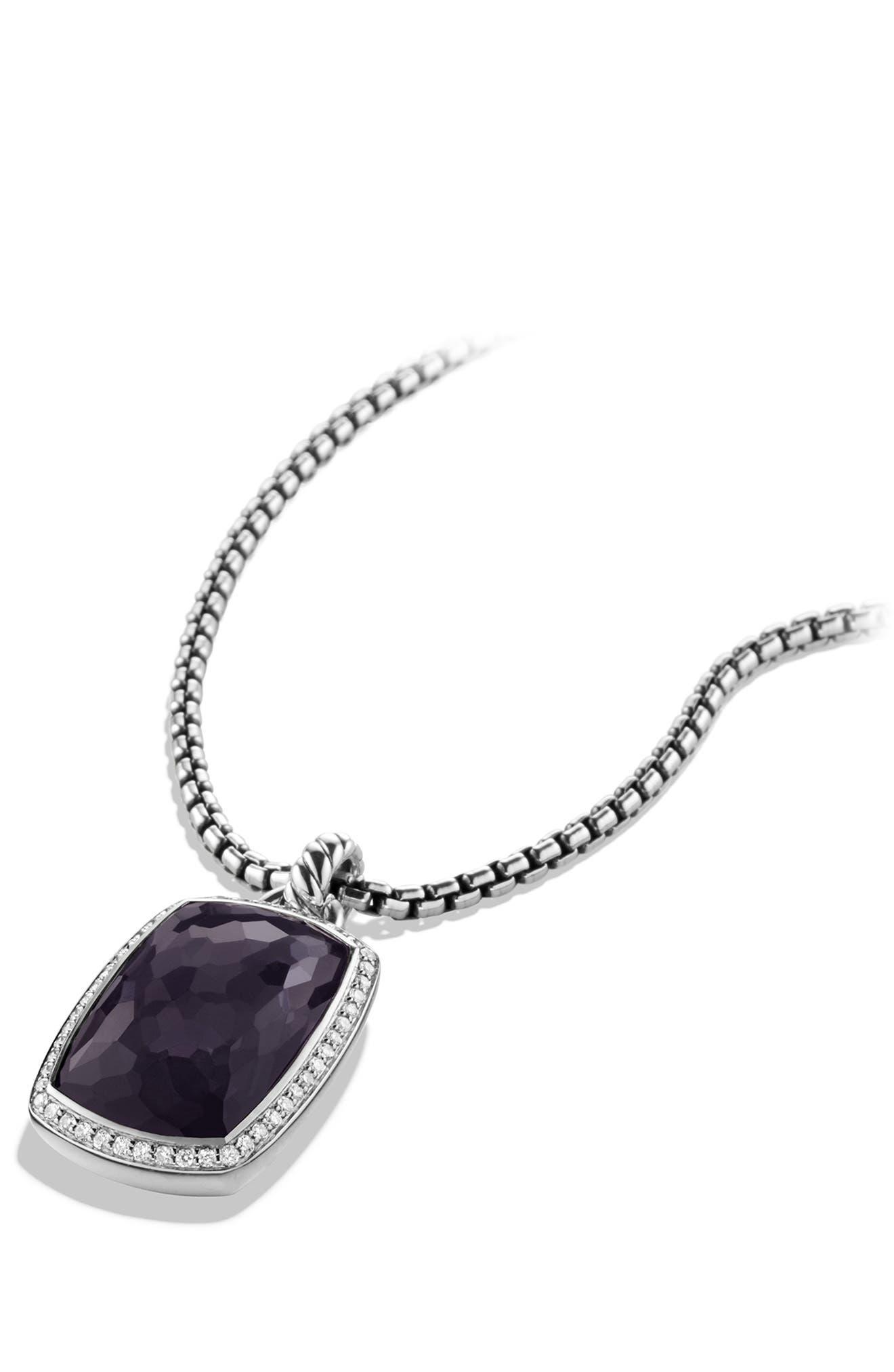 'Albion' Pendant with Semiprecious Stone and Diamonds,                             Alternate thumbnail 9, color,