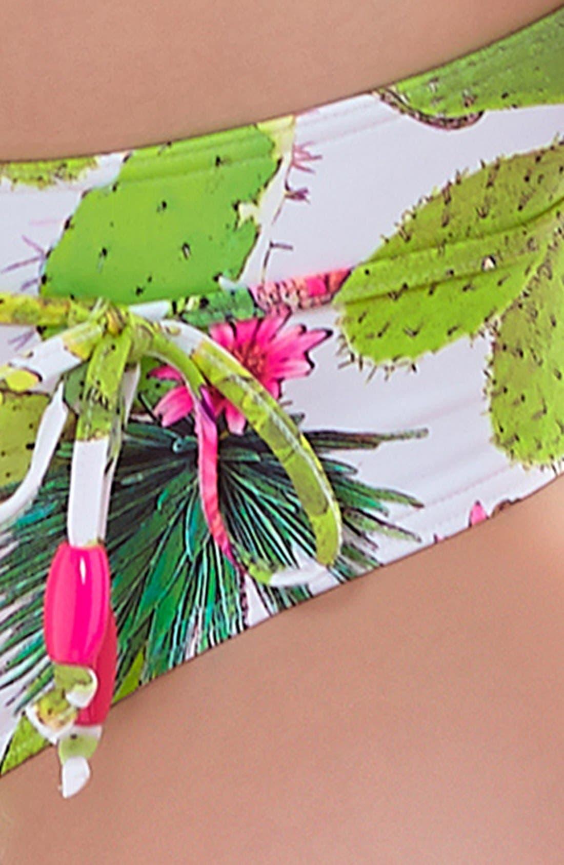 'Cactus' Underwire Bikini Top,                             Alternate thumbnail 6, color,                             348