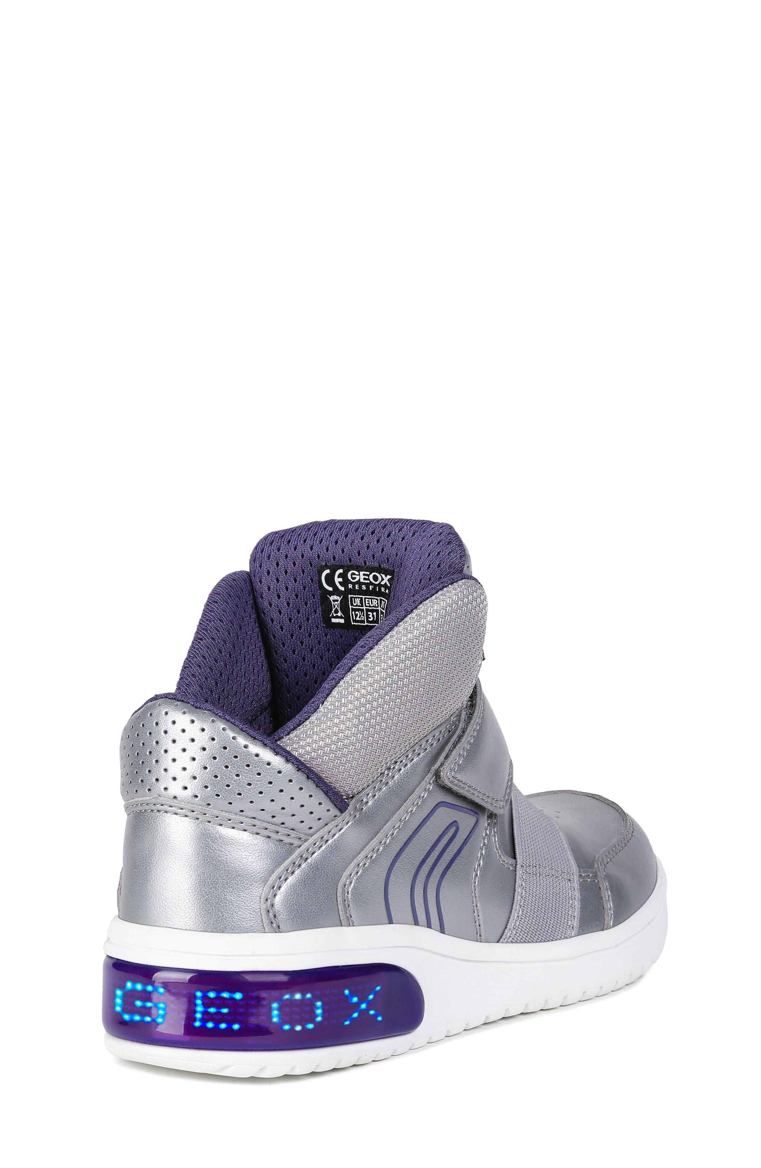 Xled Light Up Sneaker,                             Alternate thumbnail 7, color,                             SILVER/ VIOLET