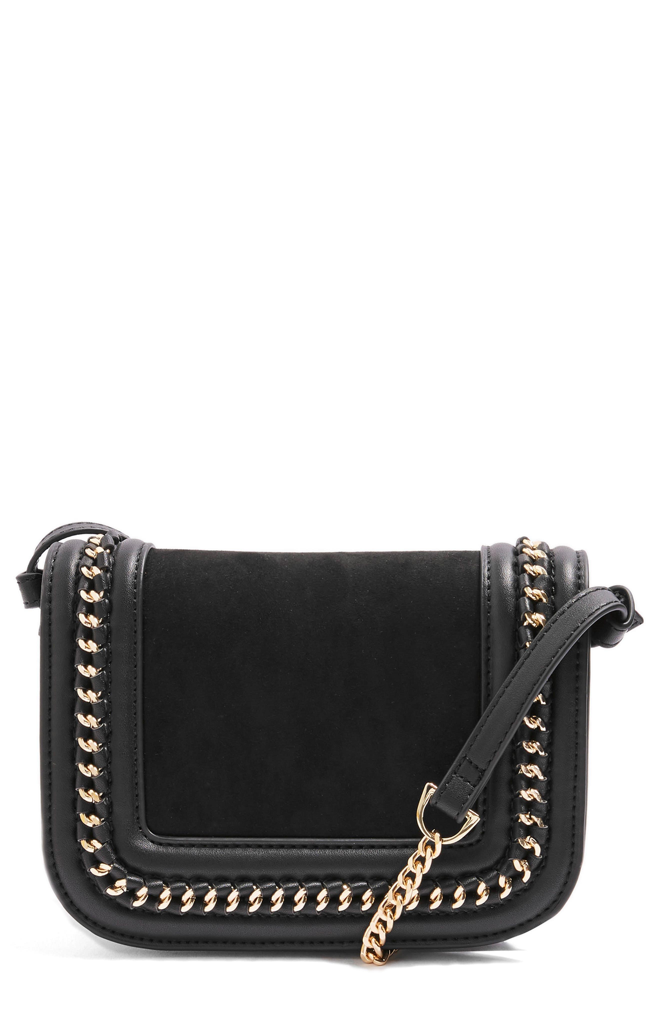 Carmel Chain Flap Crossbody Bag,                             Main thumbnail 1, color,                             001