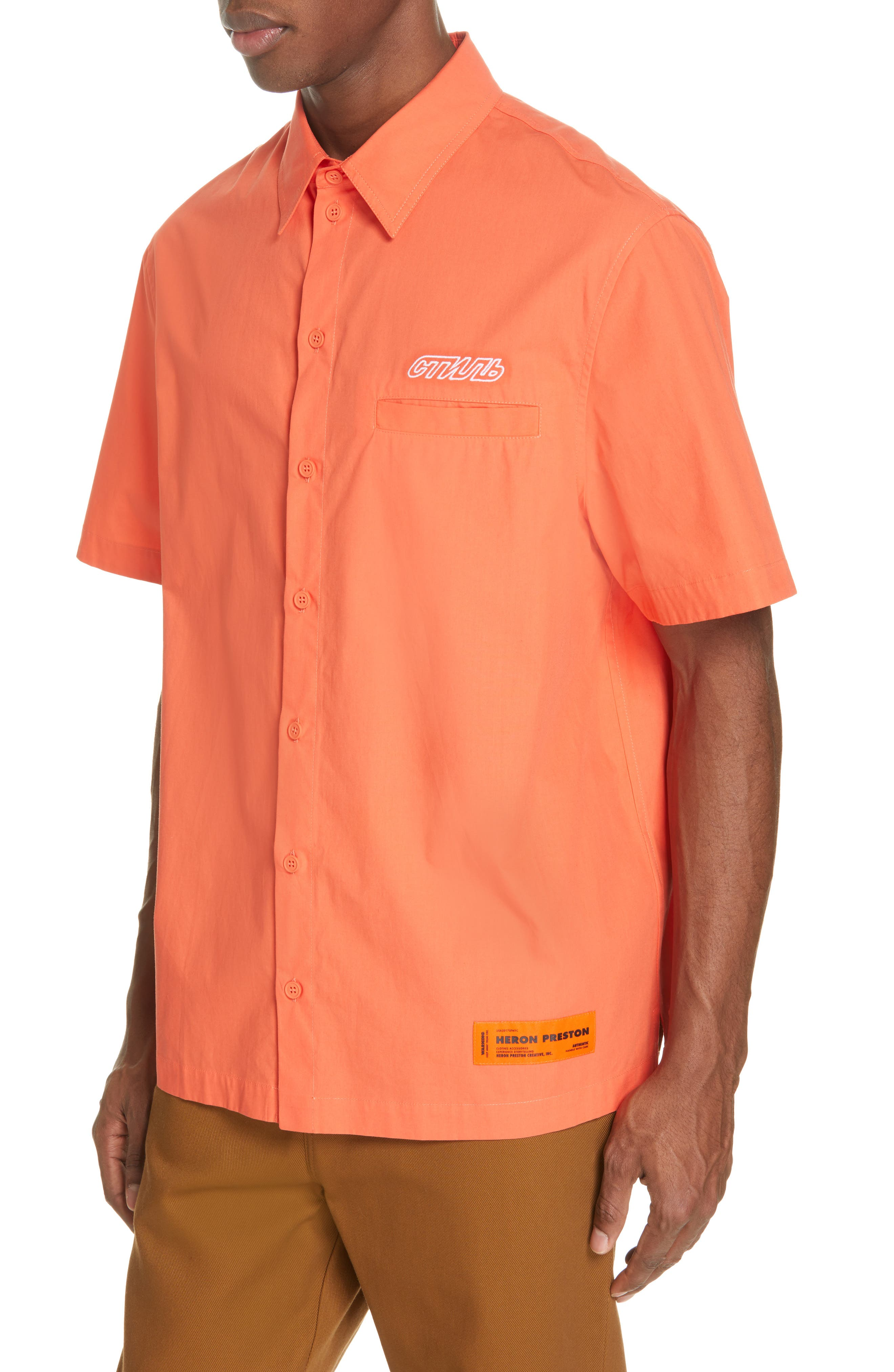 Woven Shirt,                             Alternate thumbnail 2, color,                             ORANGE