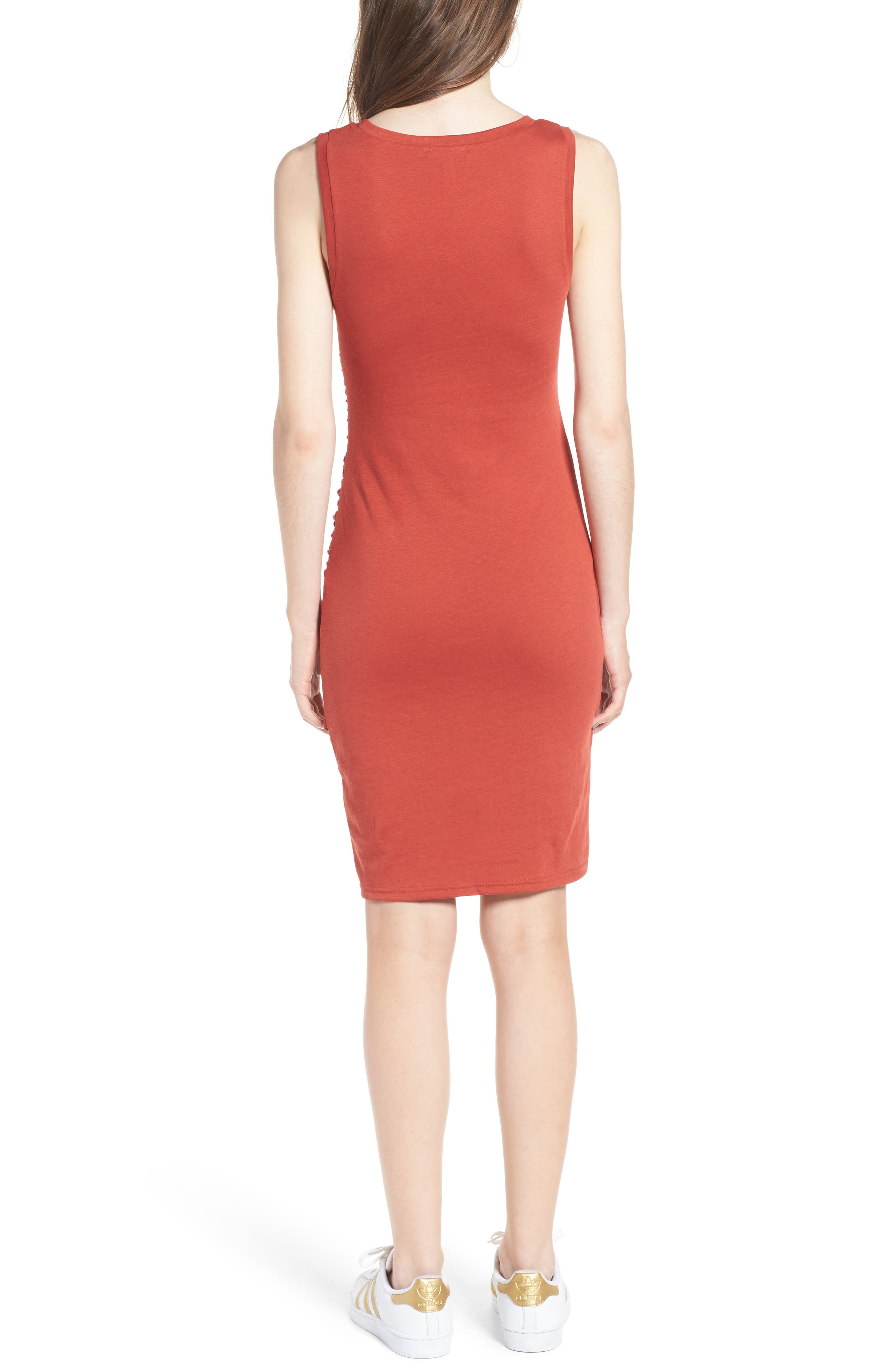 Ruched Body-Con Tank Dress,                             Alternate thumbnail 67, color,