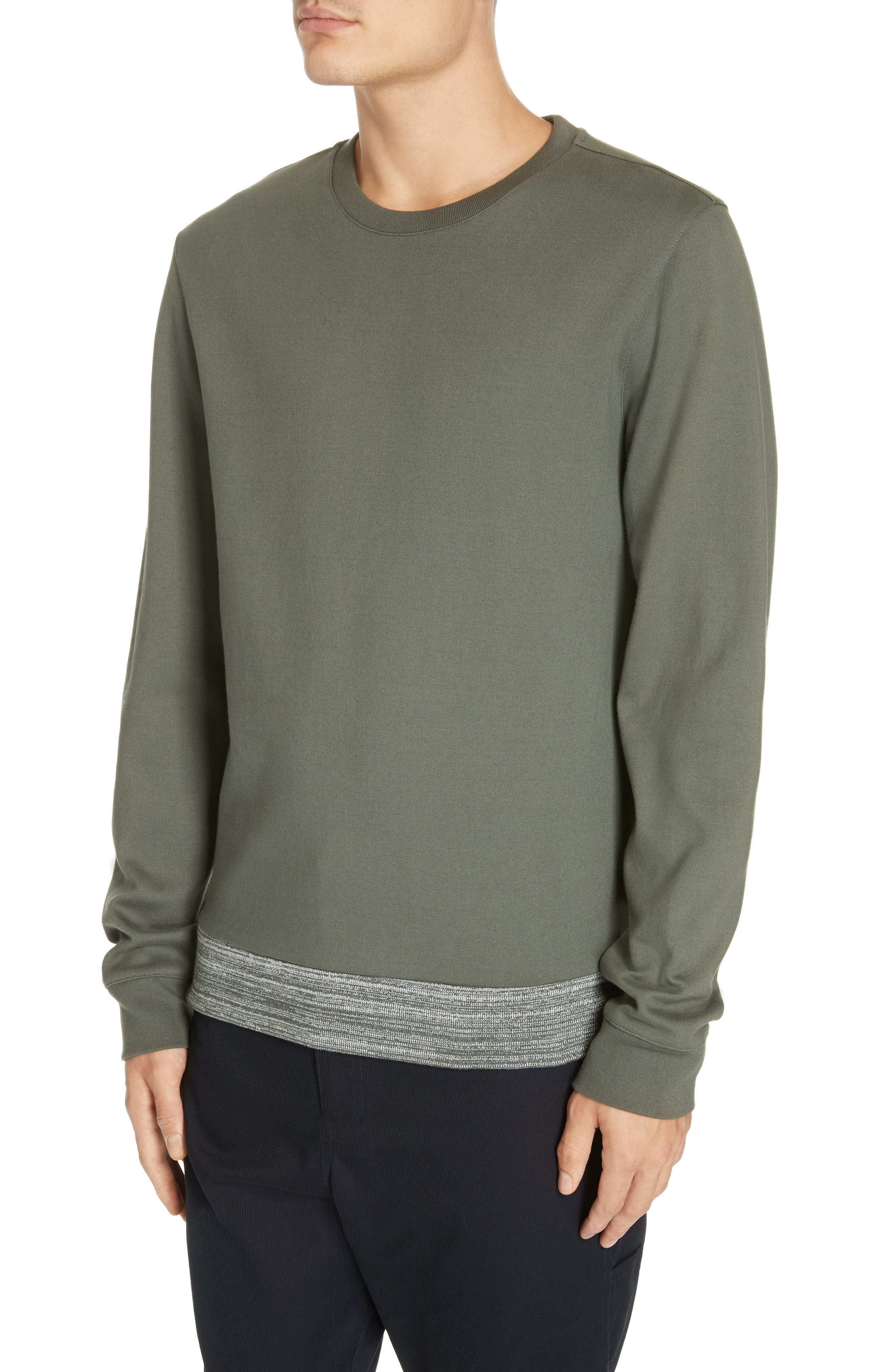 Jeremie Space Dye Sweatshirt,                             Alternate thumbnail 4, color,                             KHAKI