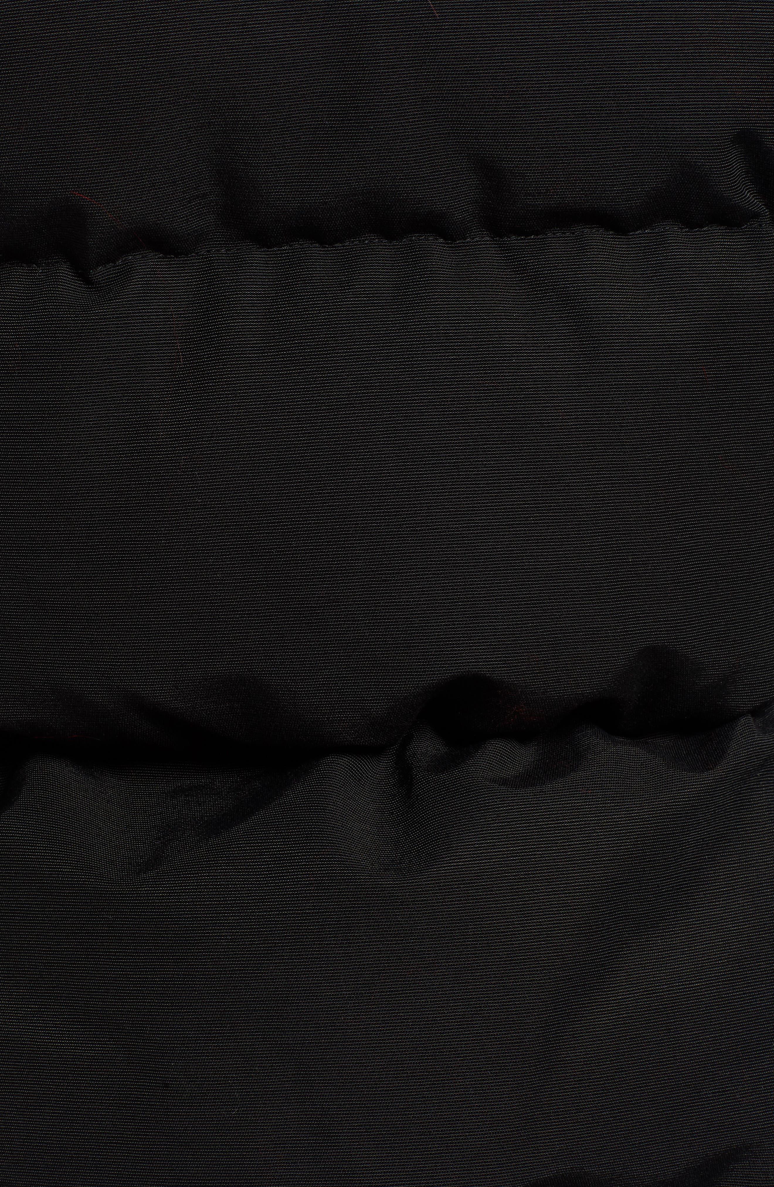 Harper Genuine Fox Fur Trim Down Parka,                             Alternate thumbnail 6, color,                             BLACK/ SCARLET FOX