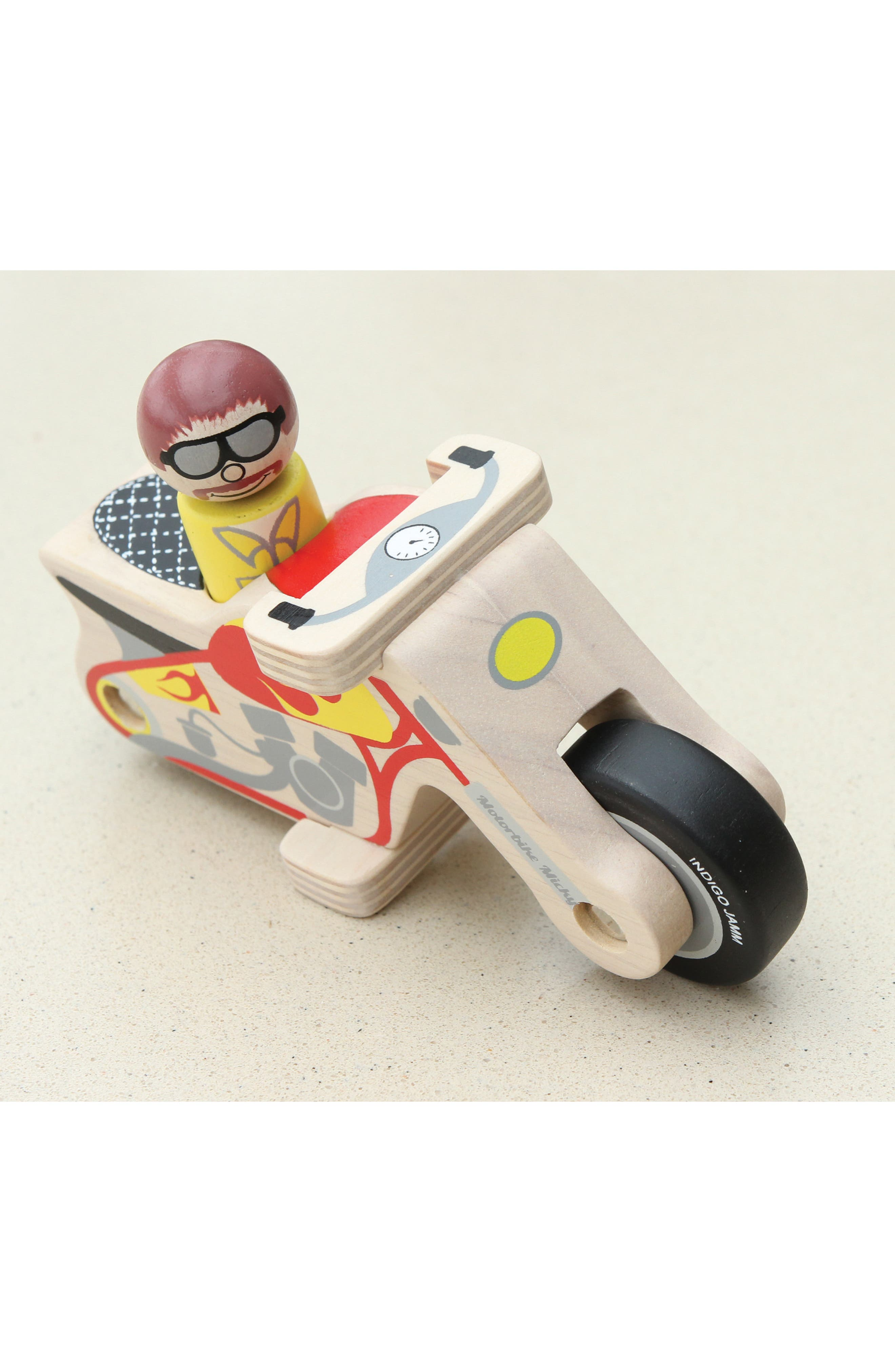 Motorbike Micky Wooden Toy,                             Alternate thumbnail 3, color,