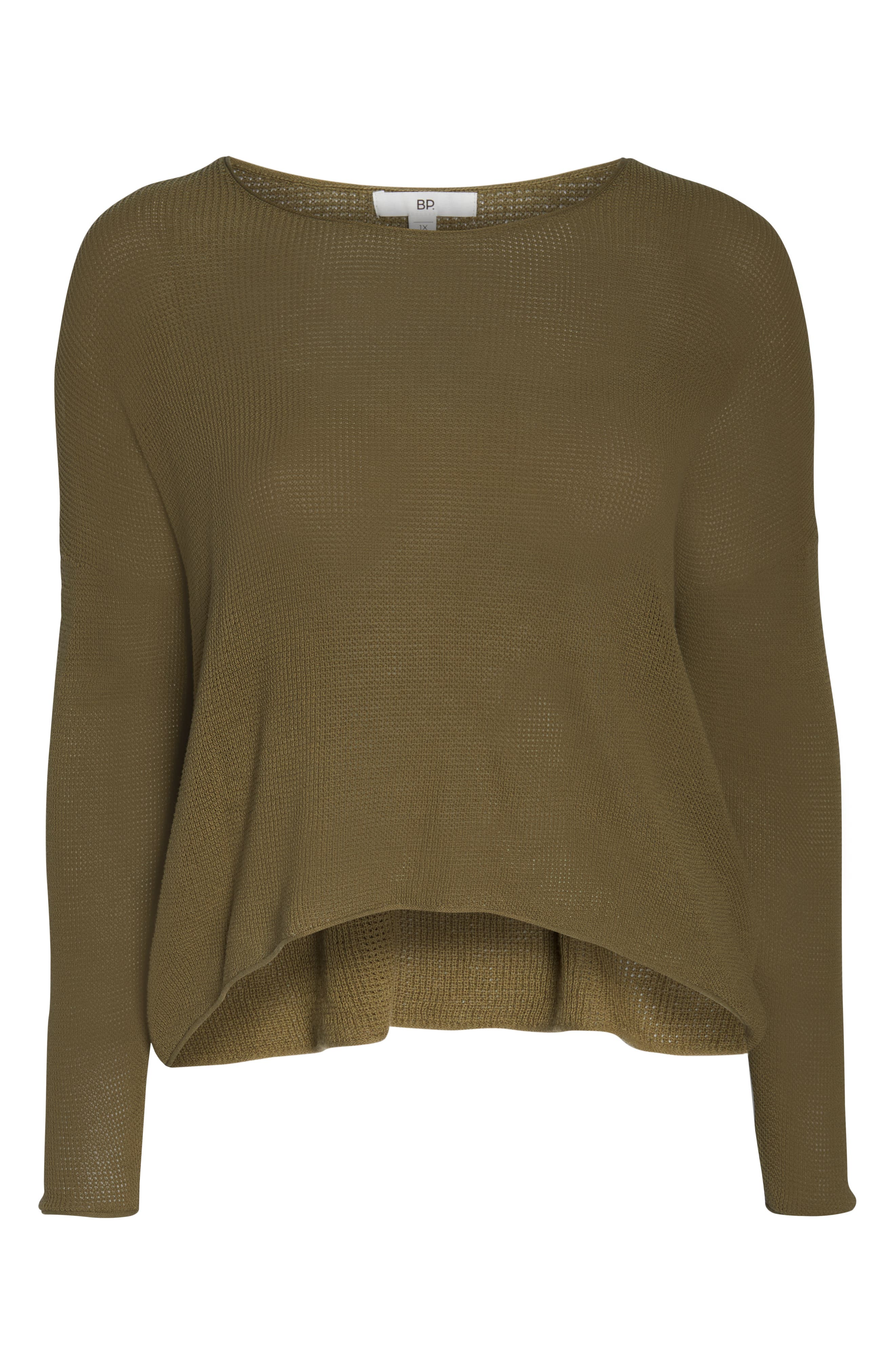 Coastal Thermal Sweater,                             Alternate thumbnail 12, color,                             OLIVE BURNT