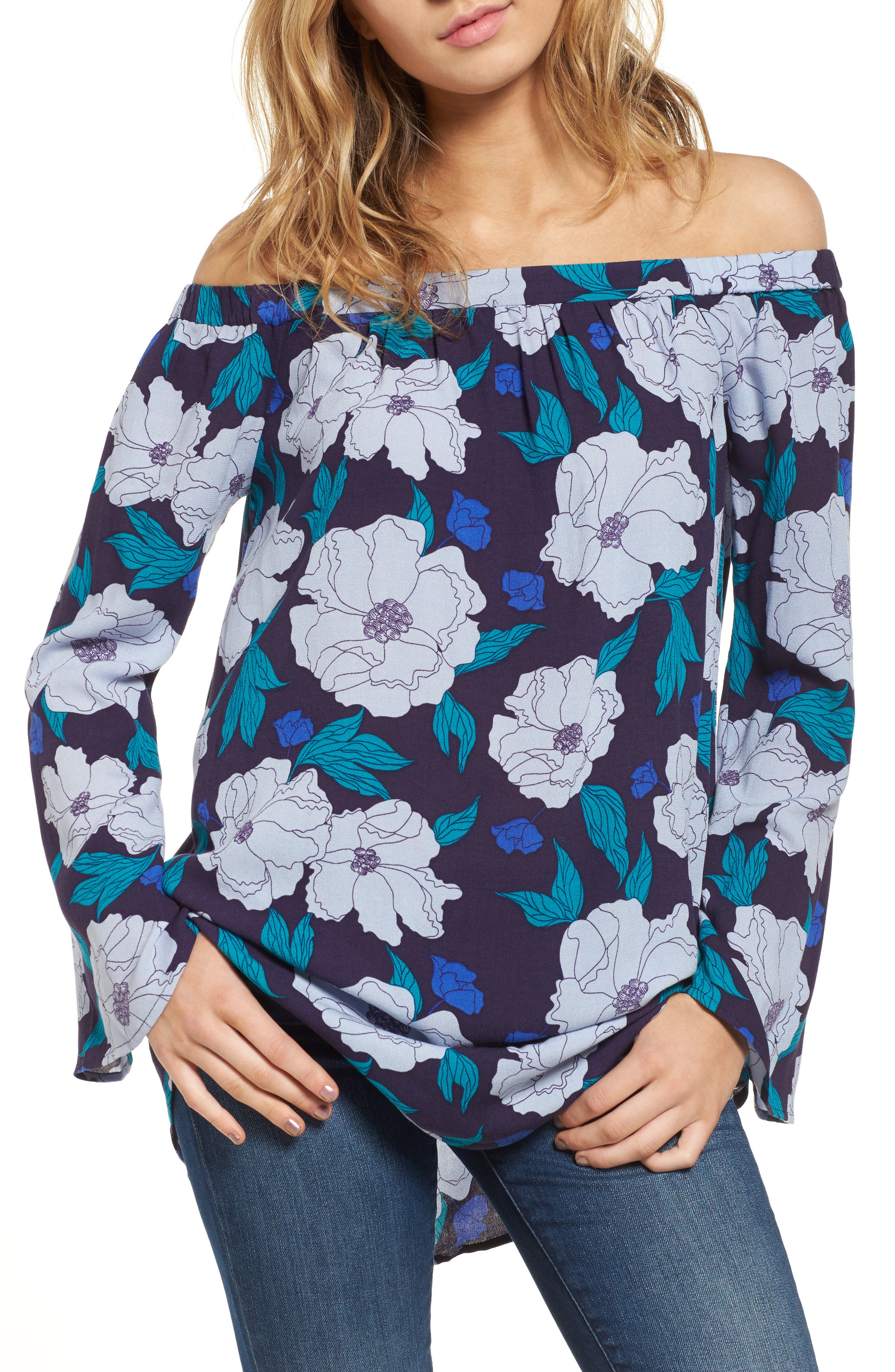 Off the Shoulder Tunic,                             Main thumbnail 4, color,
