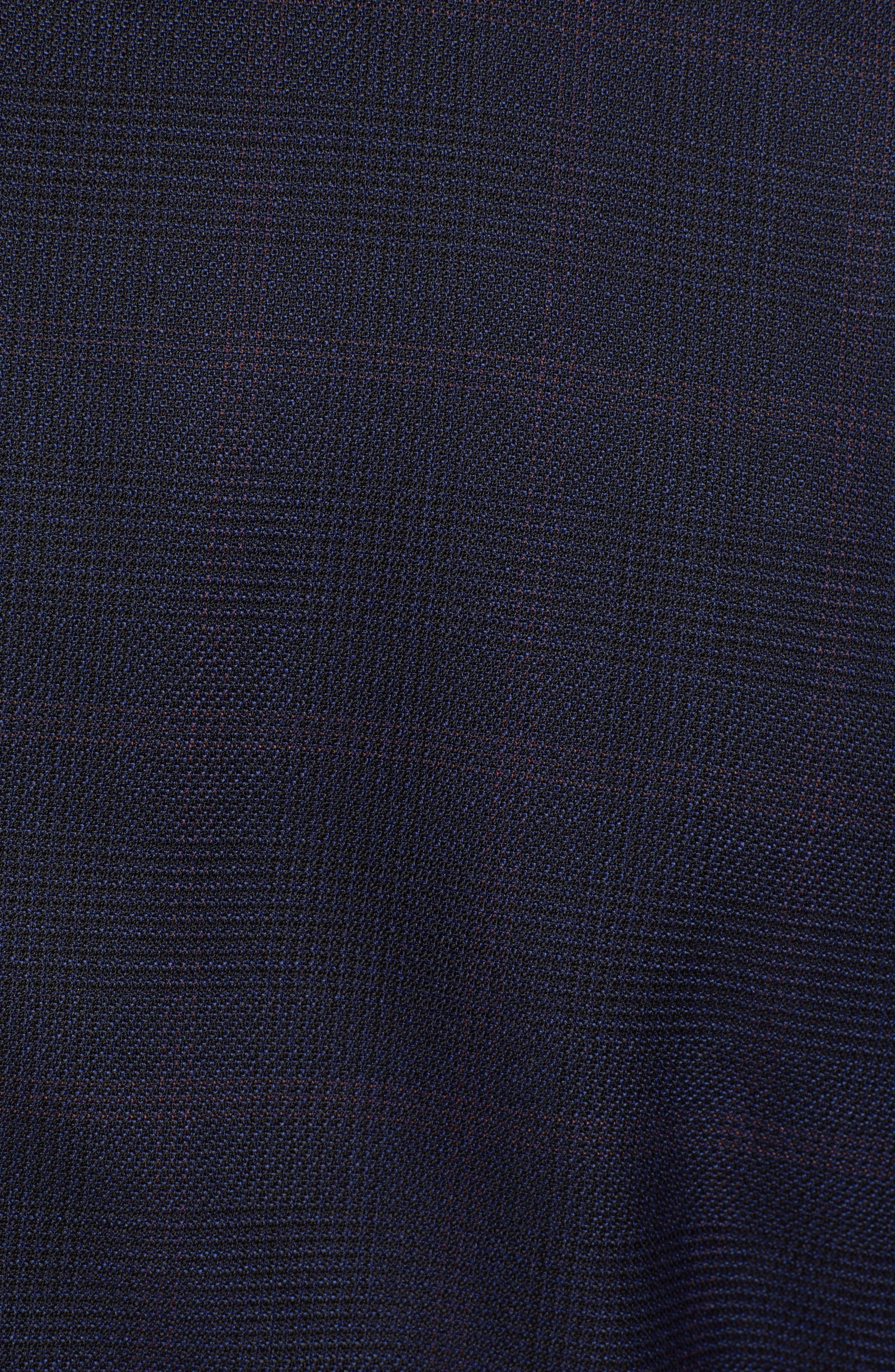 x Nordstrom Huge/Genius Trim Fit Plaid Wool Suit,                             Alternate thumbnail 9, color,                             NAVY