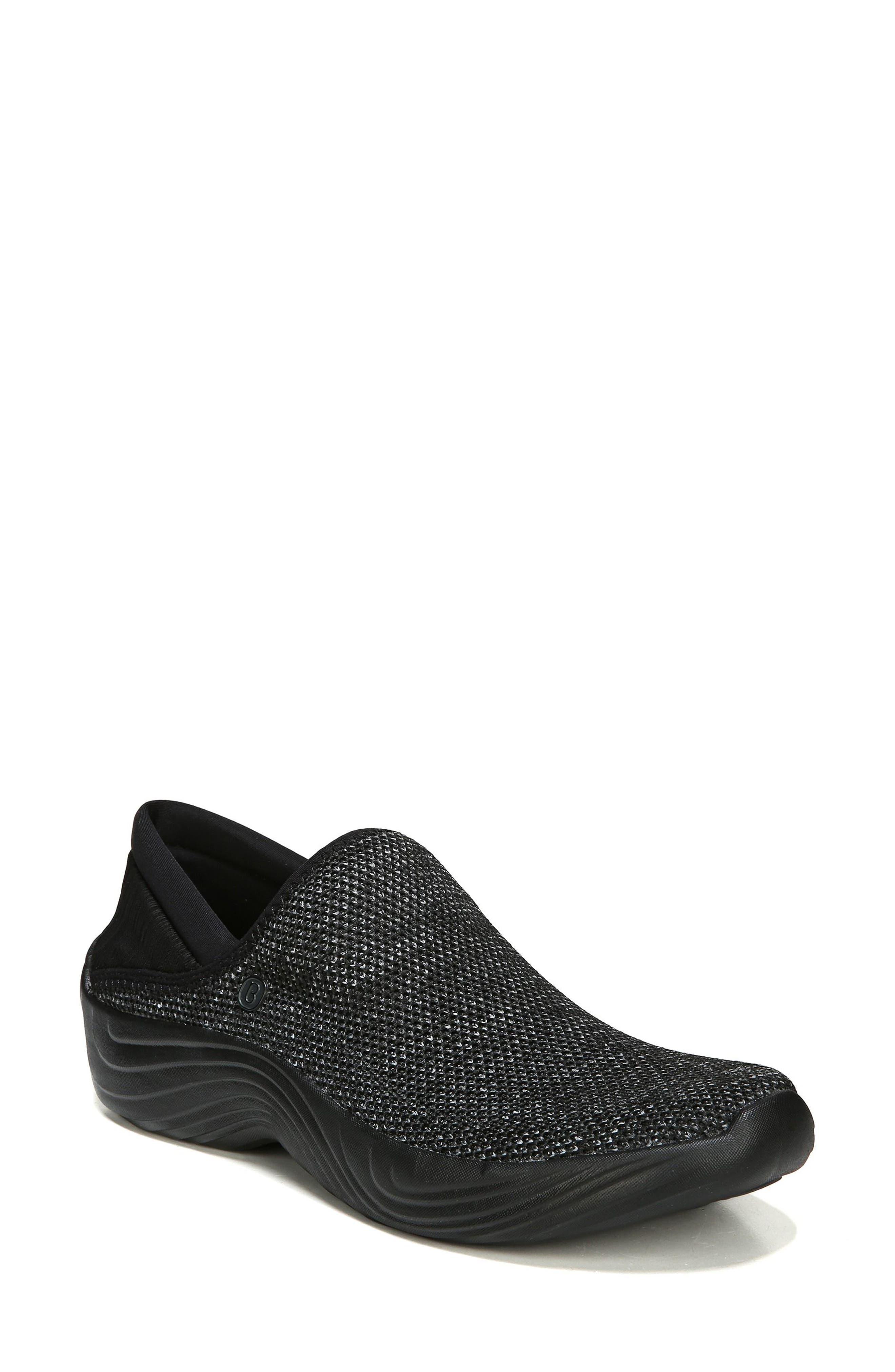 Topaz Slip-On Sneaker,                             Main thumbnail 1, color,                             BLACK FABRIC
