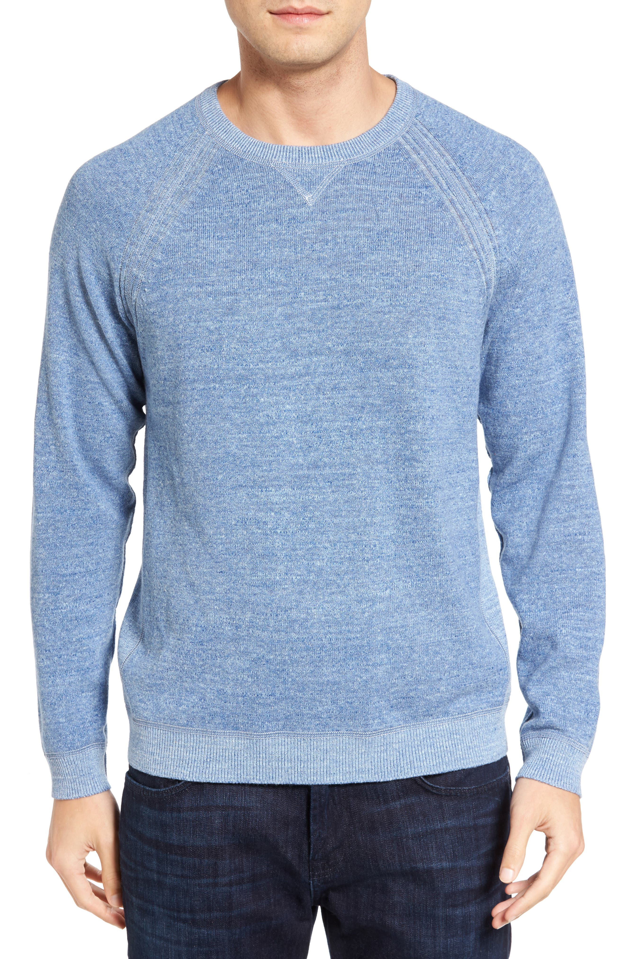 Sandy Bay Reversible Crewneck Sweater,                             Alternate thumbnail 2, color,                             100