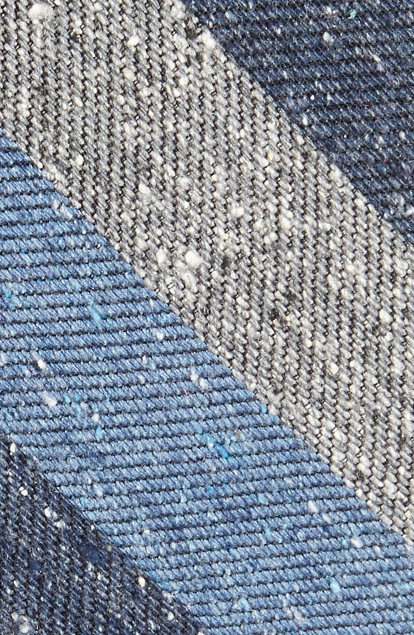 Varios Stripe Silk Skinny Tie,                             Alternate thumbnail 6, color,