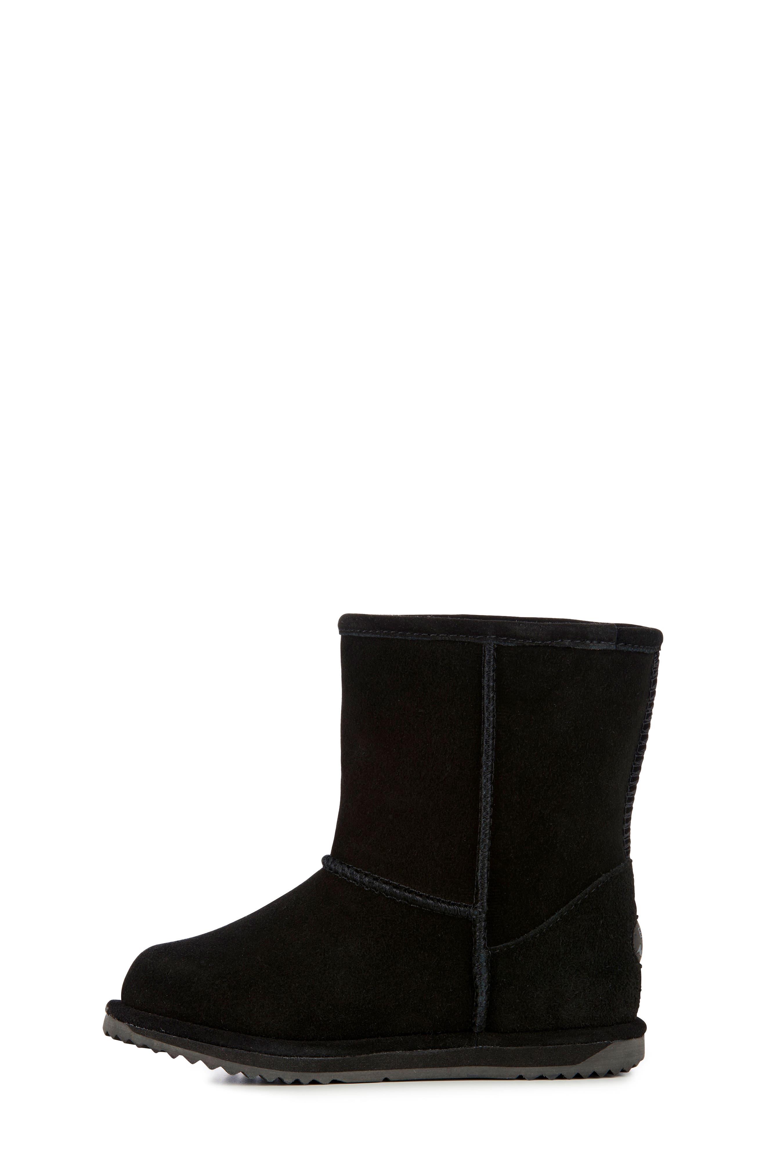 Brumby Waterproof Boot,                             Alternate thumbnail 3, color,                             BLACK SUEDE
