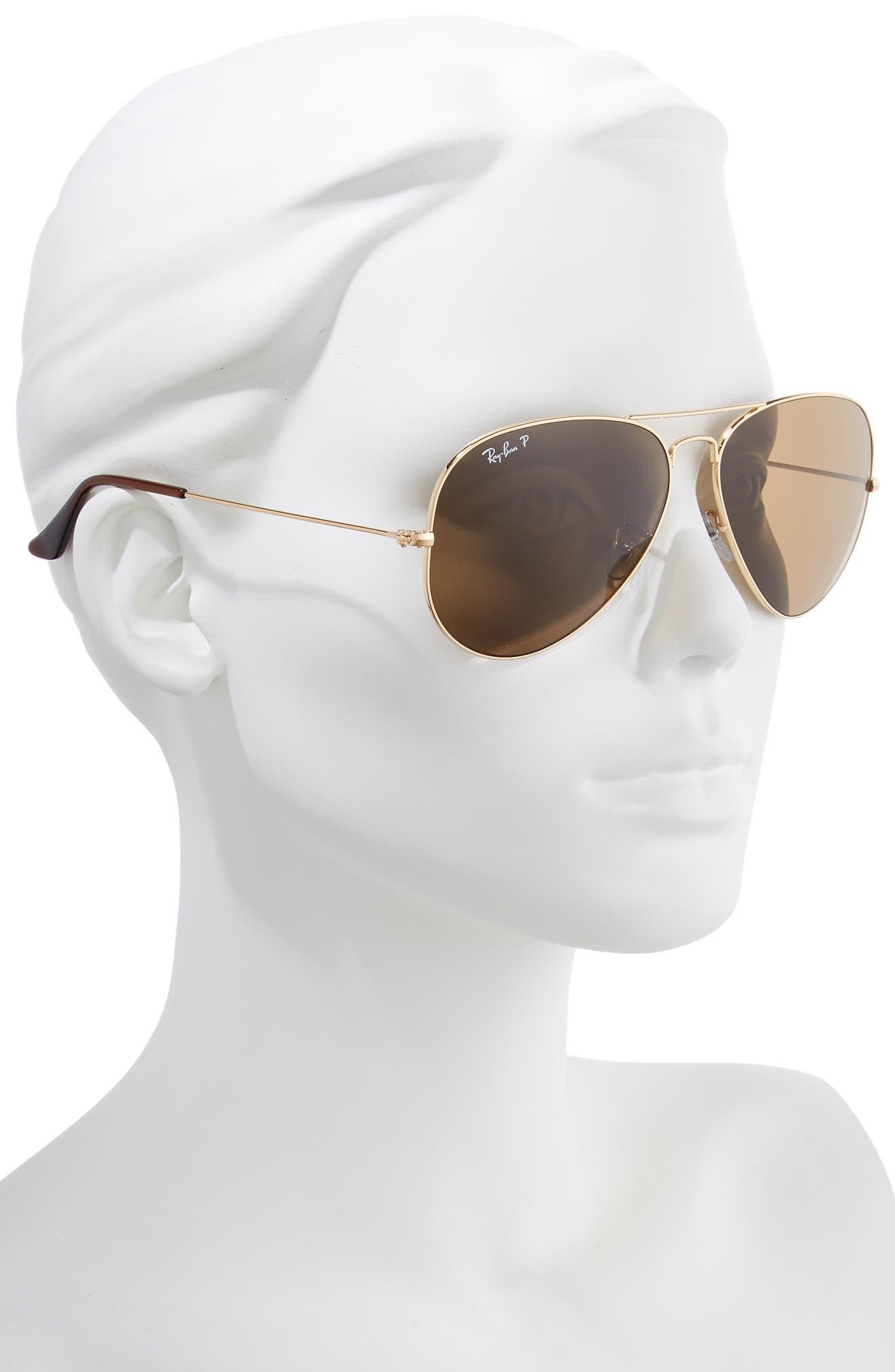 Original 62mm Oversize Polarized Aviator Sunglasses,                             Alternate thumbnail 2, color,                             710
