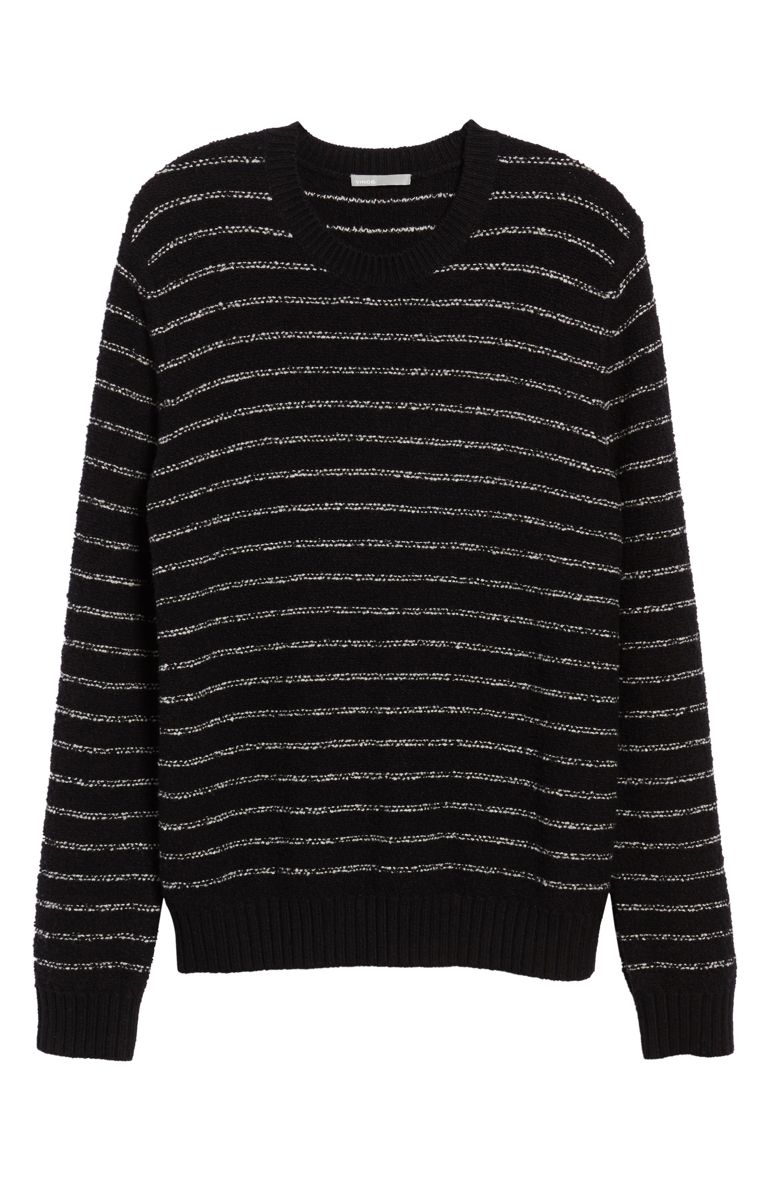 Stripe Merino Sweater,                             Alternate thumbnail 6, color,                             001