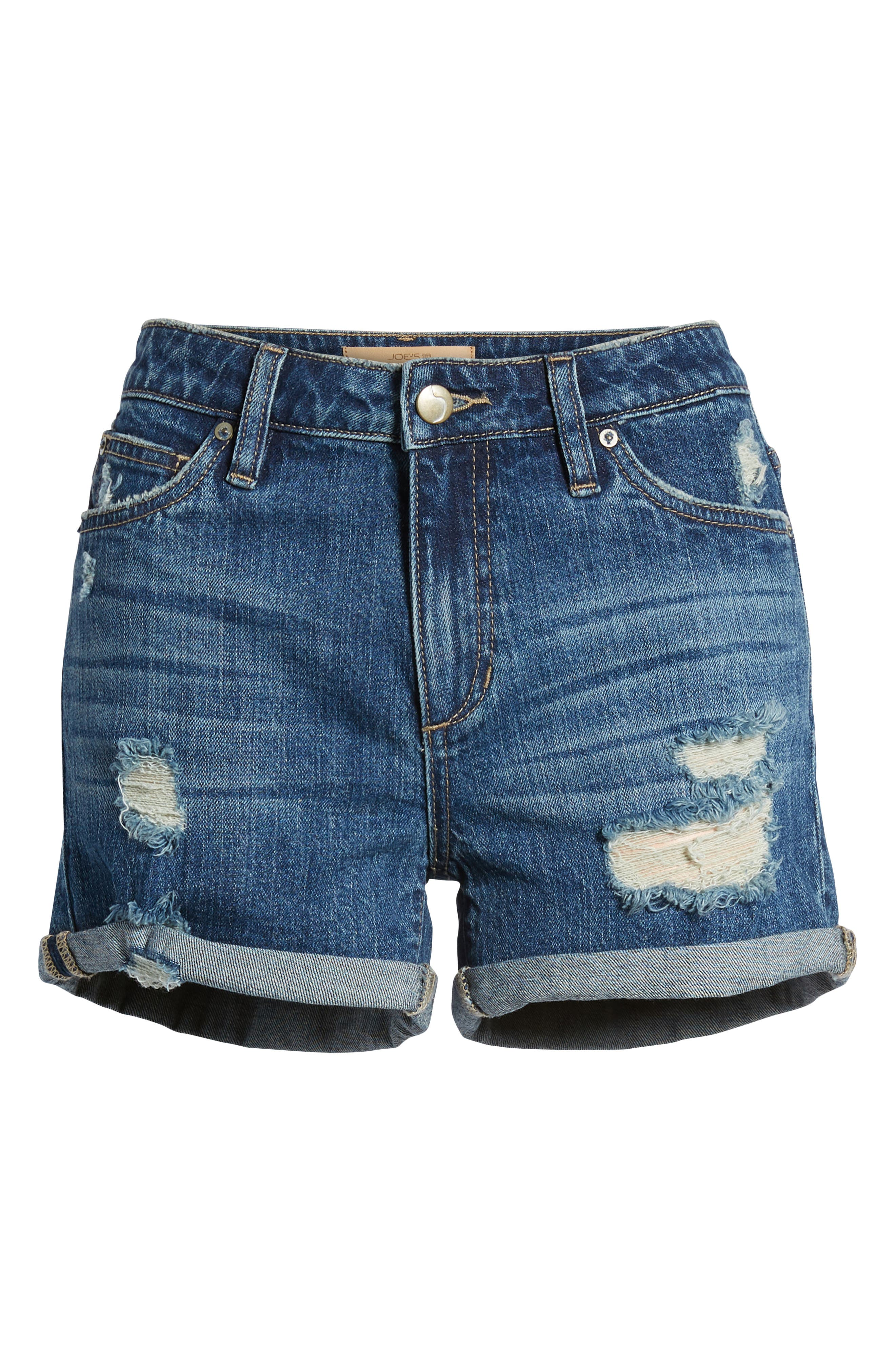 The Ozzie Roll Cuff Denim Shorts,                             Alternate thumbnail 7, color,                             450