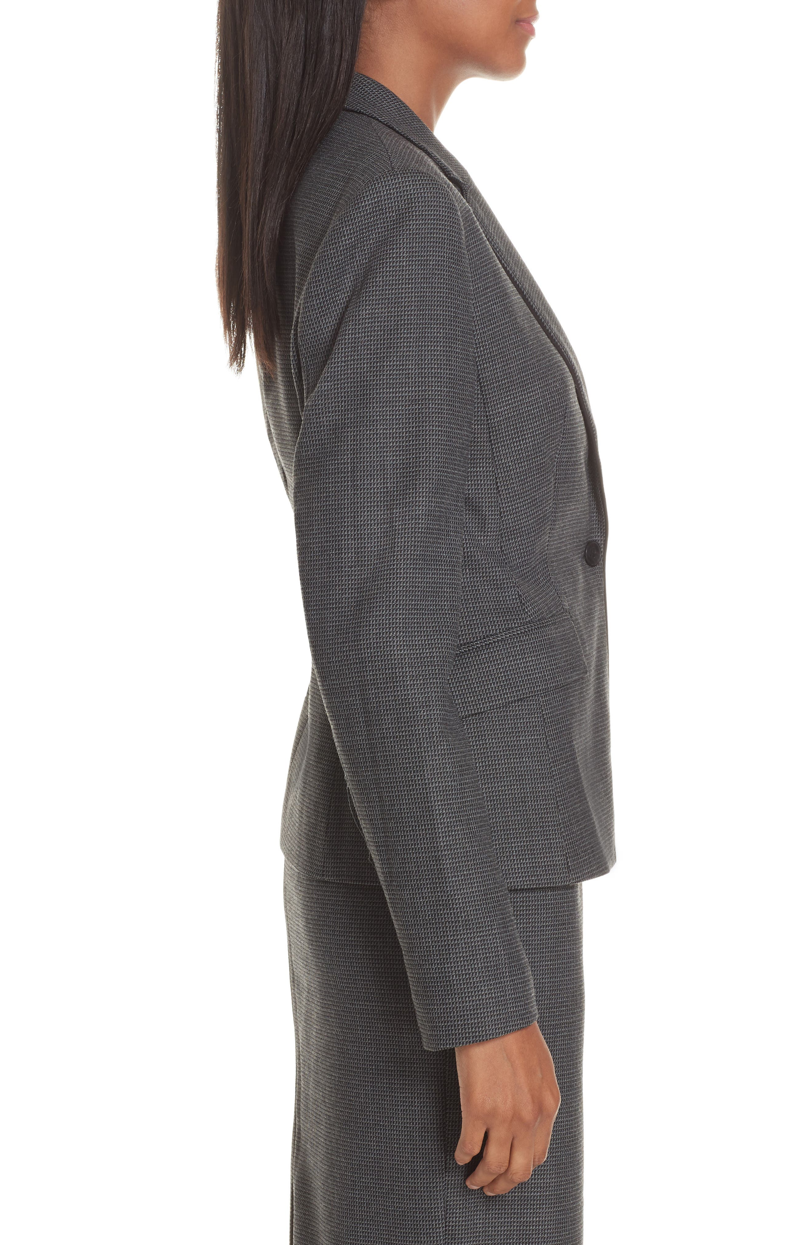 Jorita Geometric Wool Blend Suit Jacket,                             Alternate thumbnail 3, color,                             GREY FANTASY
