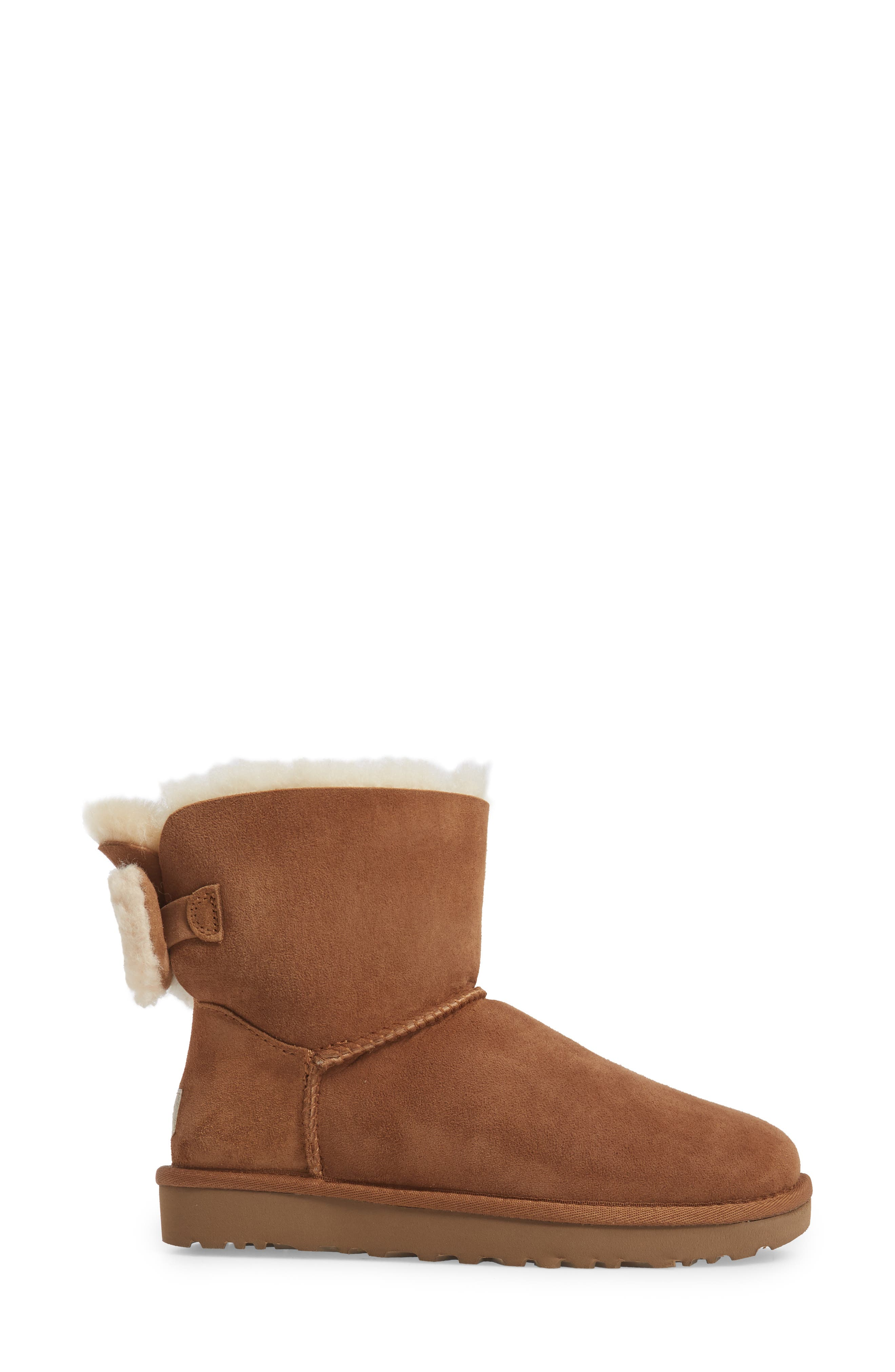 Arielle Genuine Shearling Bootie,                             Alternate thumbnail 8, color,