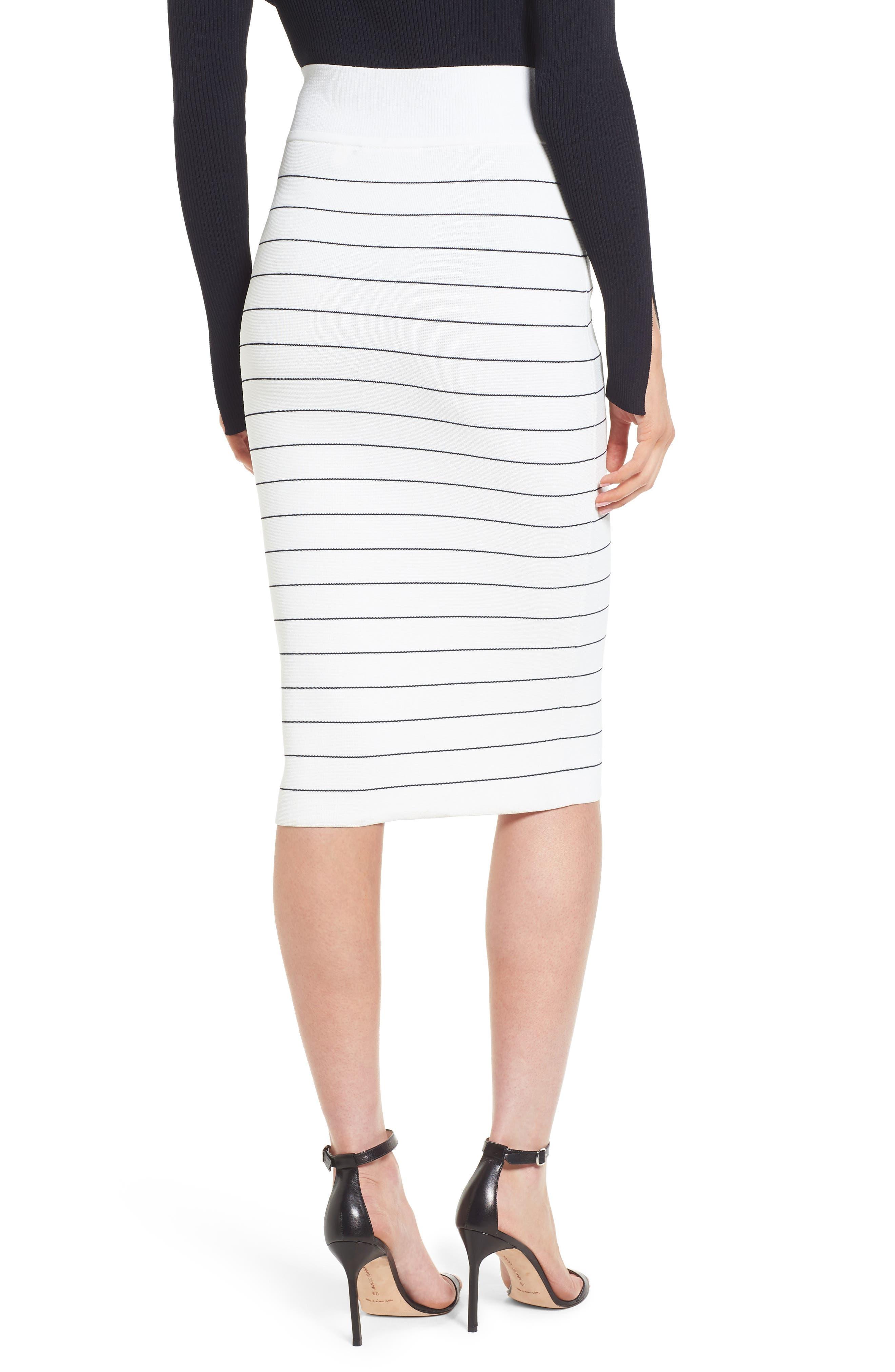 Fairuza Stripe Knit Pencil Skirt,                             Alternate thumbnail 2, color,                             170