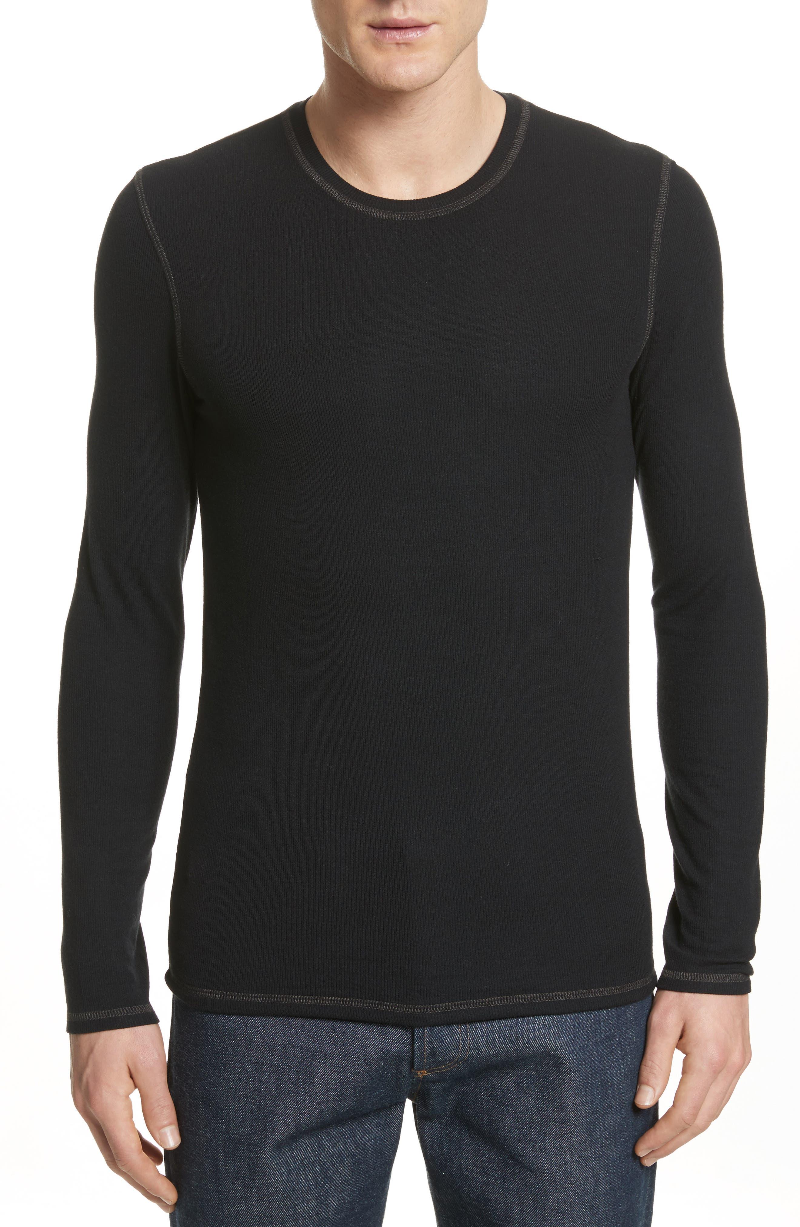 Rib Modal Crewneck Sweater,                             Main thumbnail 1, color,