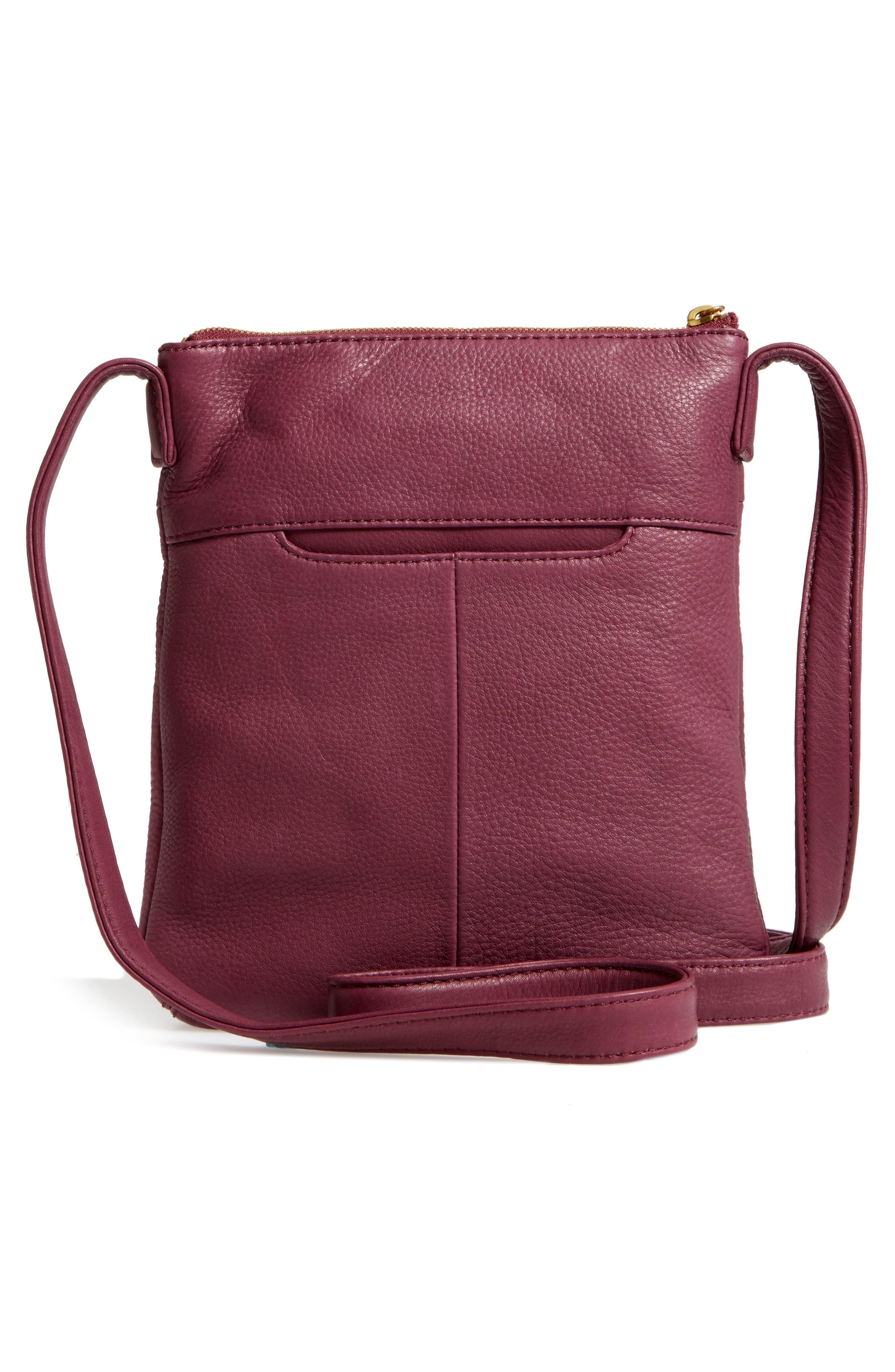 'Sarah' Leather Crossbody Bag,                             Alternate thumbnail 17, color,