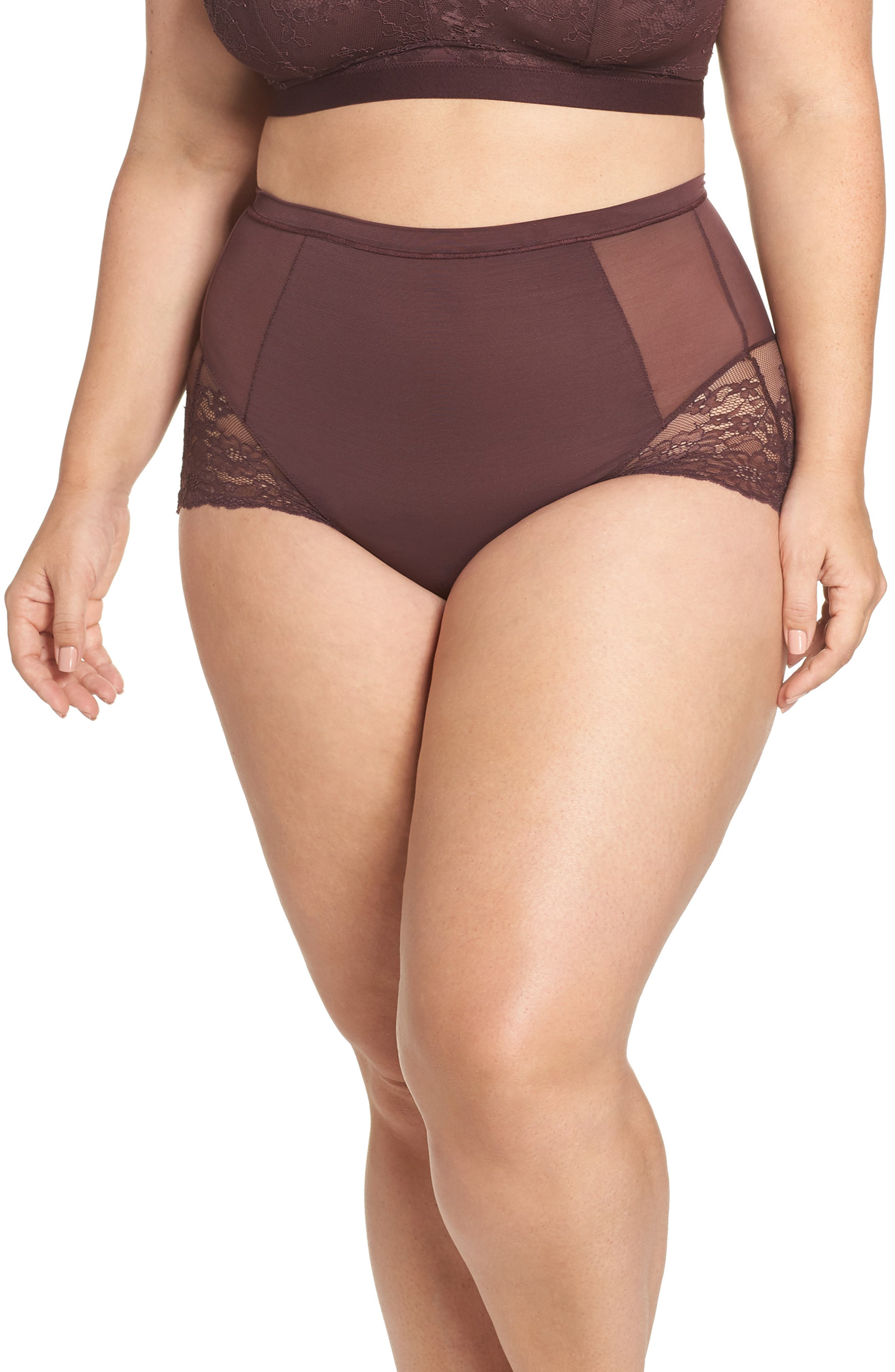 Spotlight On Lace Briefs,                         Main,                         color, GARNET