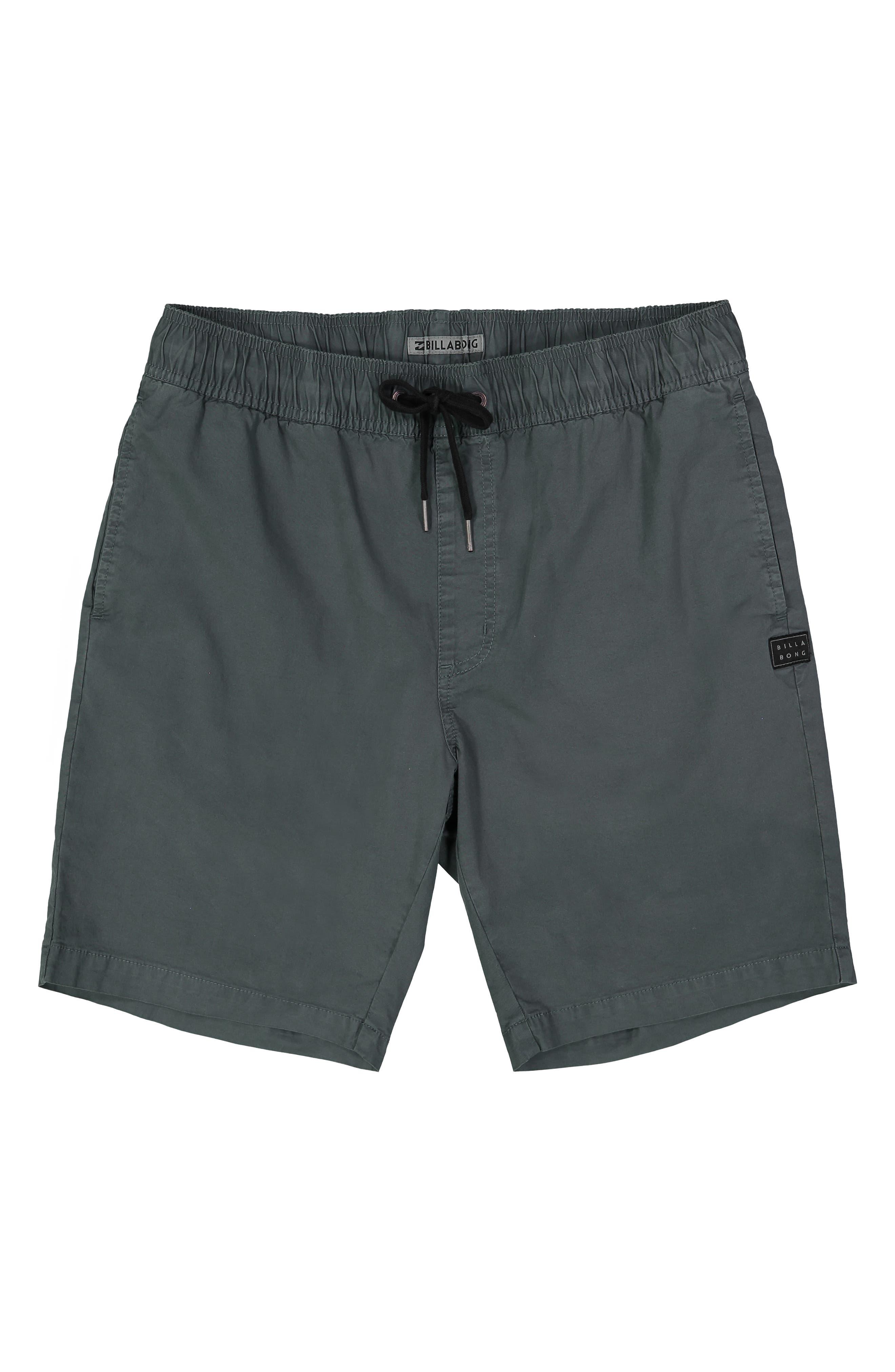 BILLABONG,                             Larry Layback Stretch Cotton Shorts,                             Main thumbnail 1, color,                             WASHED SLATE