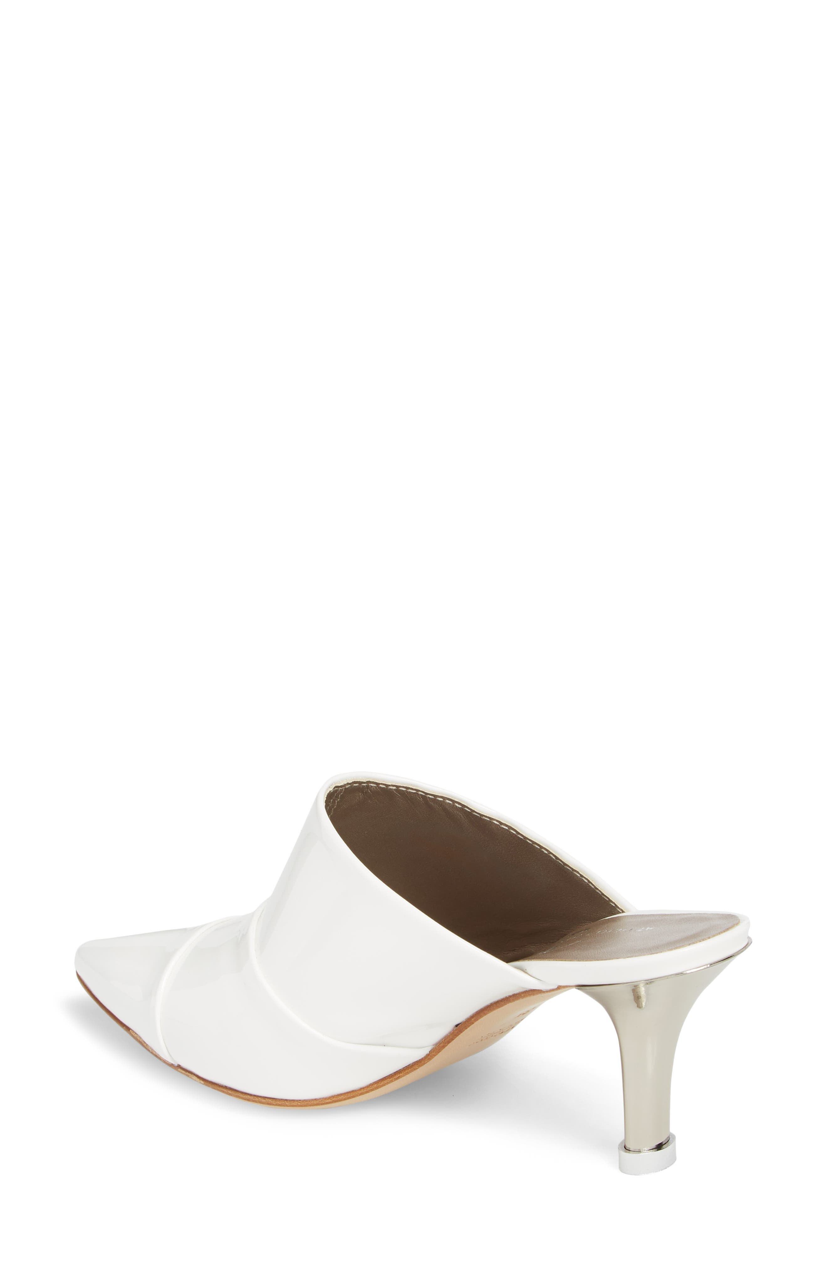 Pointy Toe Mule,                             Alternate thumbnail 2, color,                             WHITE PATENT