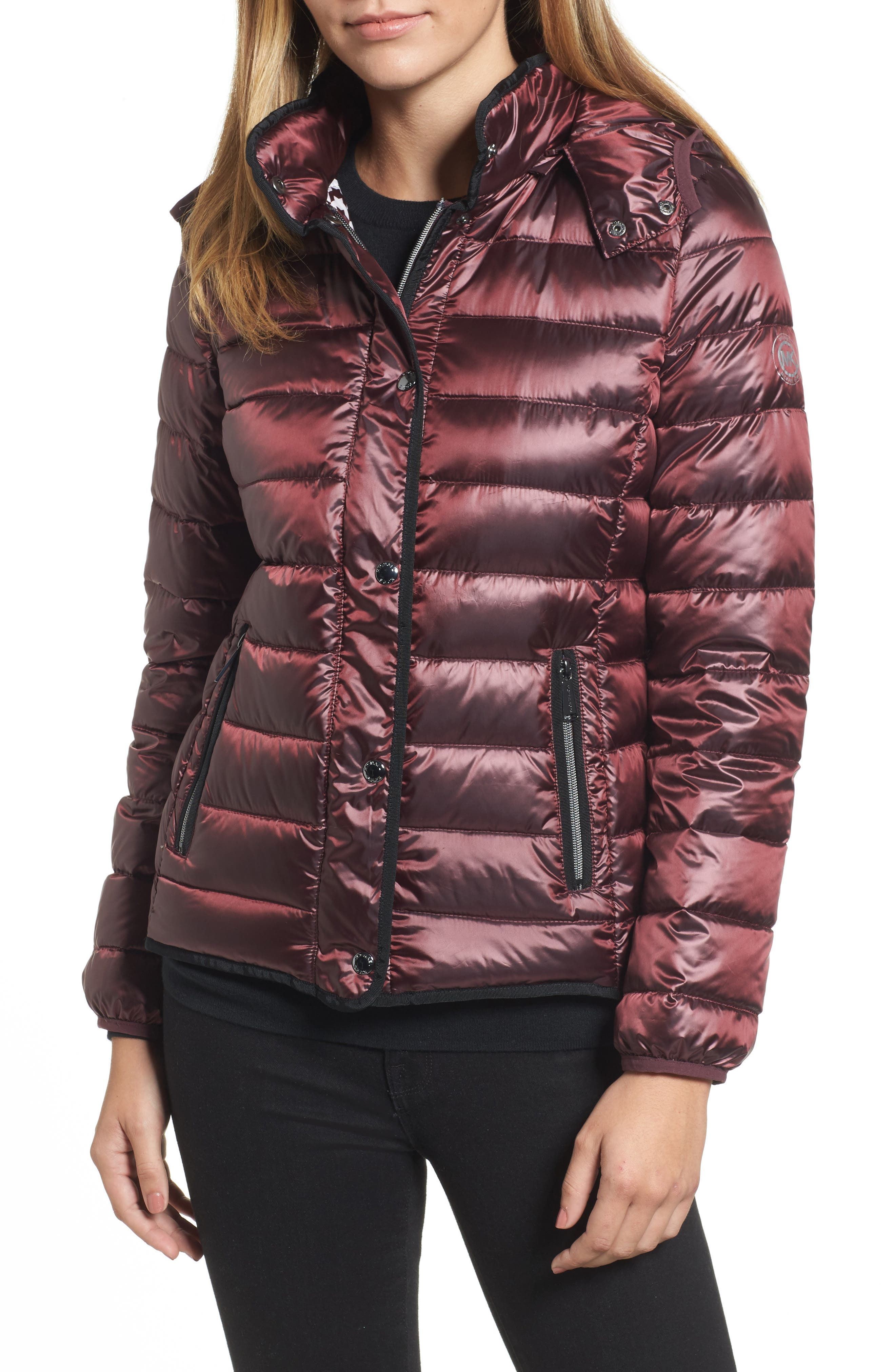 Packable Insulated Jacket with Removable Hood,                             Main thumbnail 4, color,
