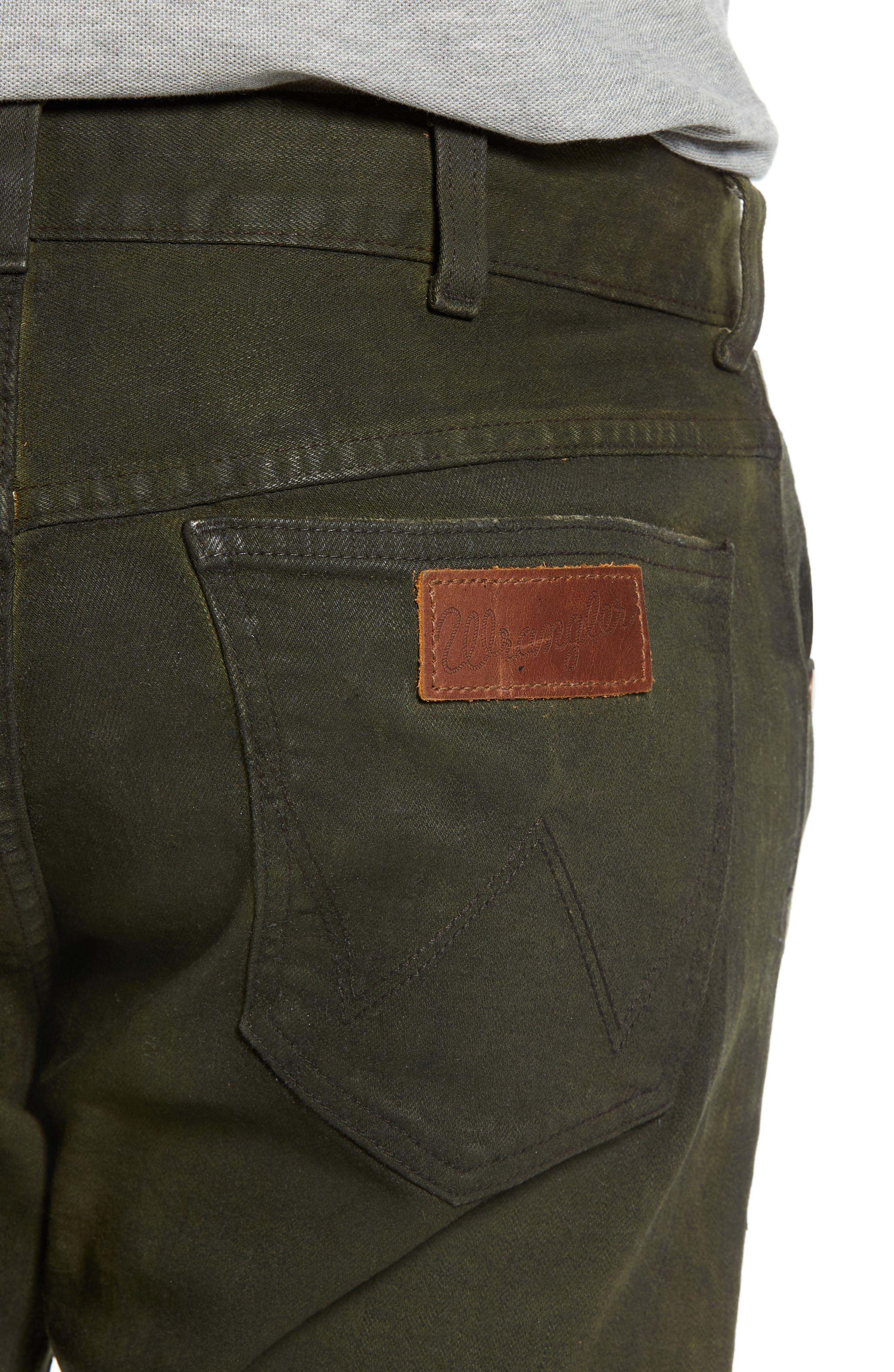 Larston Slim Fit Jeans,                             Alternate thumbnail 4, color,                             ROVER GREEN