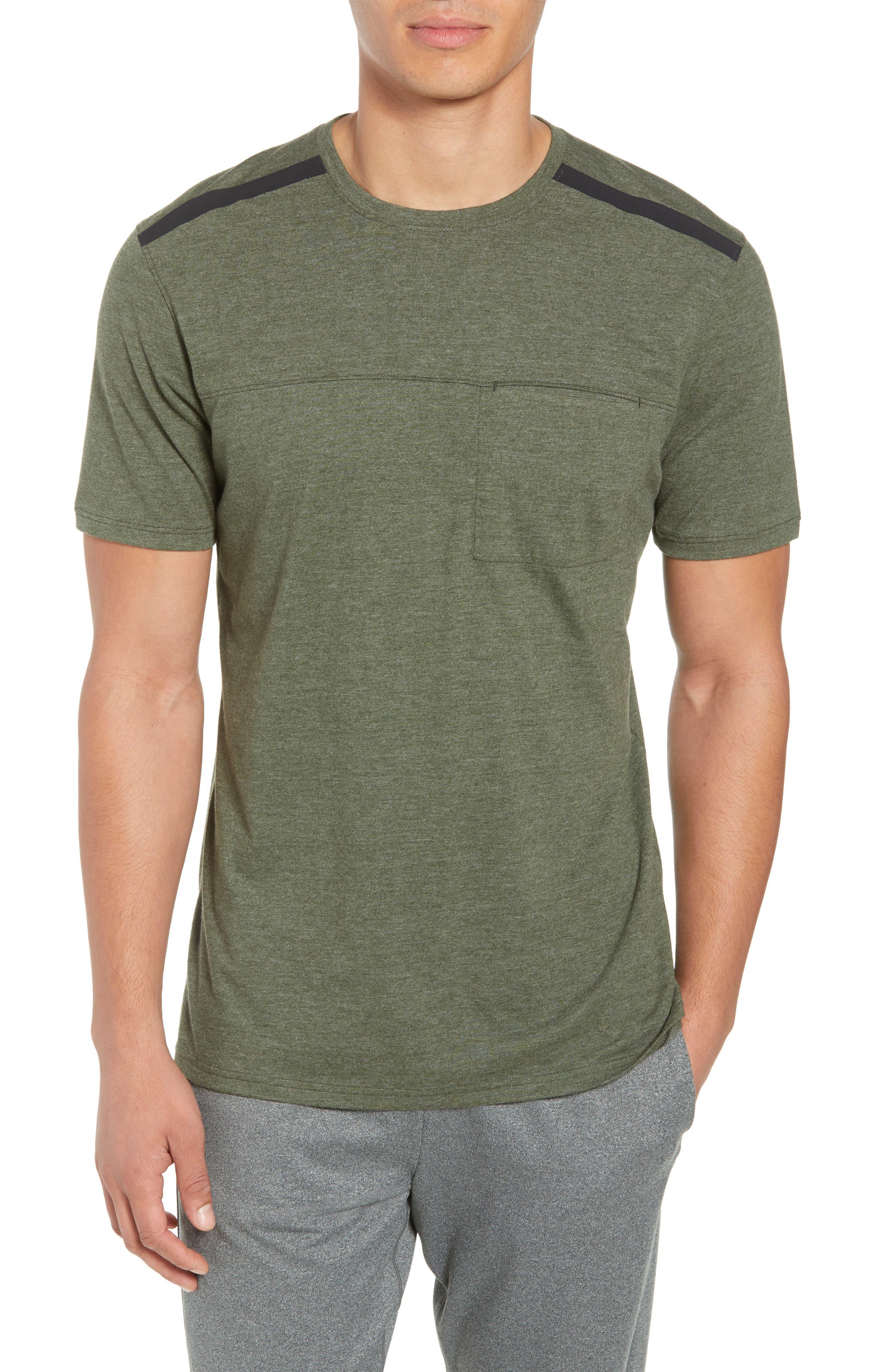 Perfomance T-Shirt,                             Main thumbnail 1, color,                             GREEN TACTICAL MELANGE