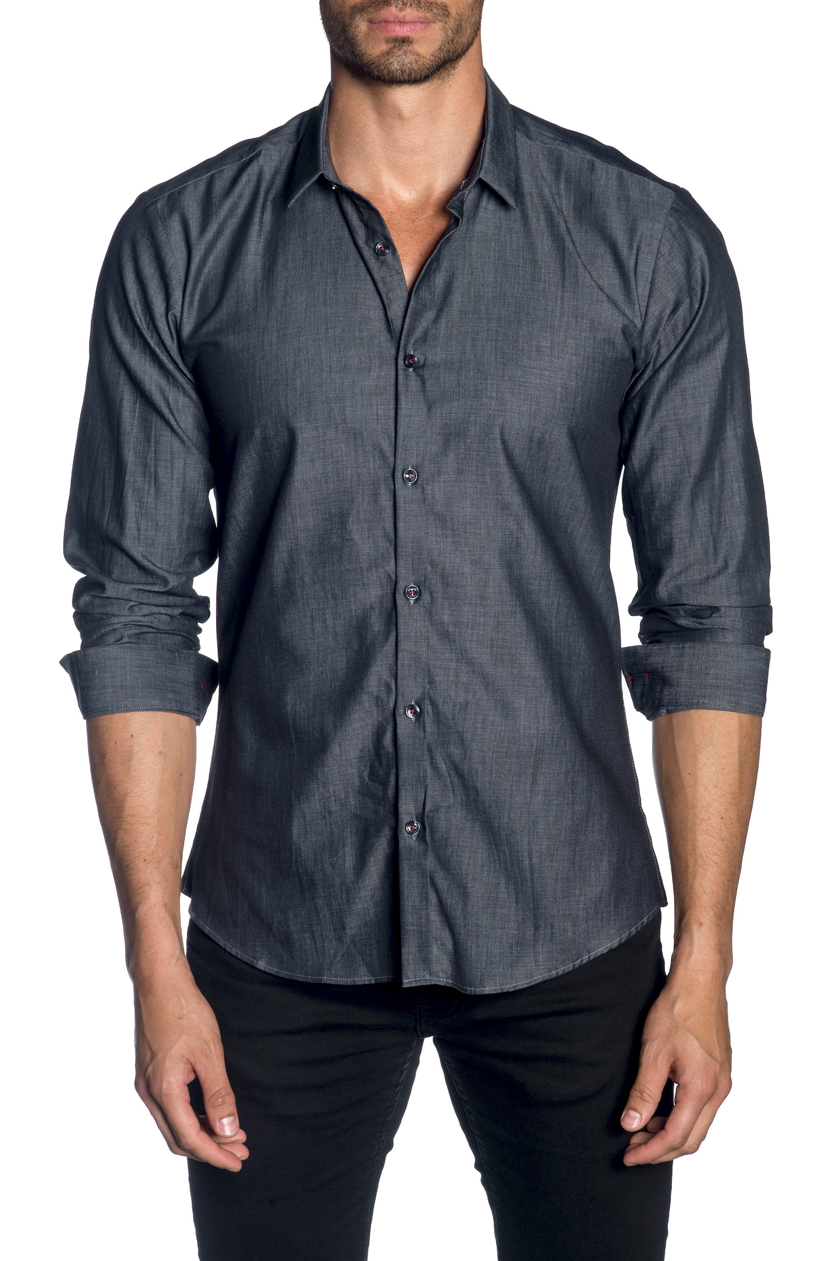 Trim Fit Sport Shirt,                         Main,                         color, 010