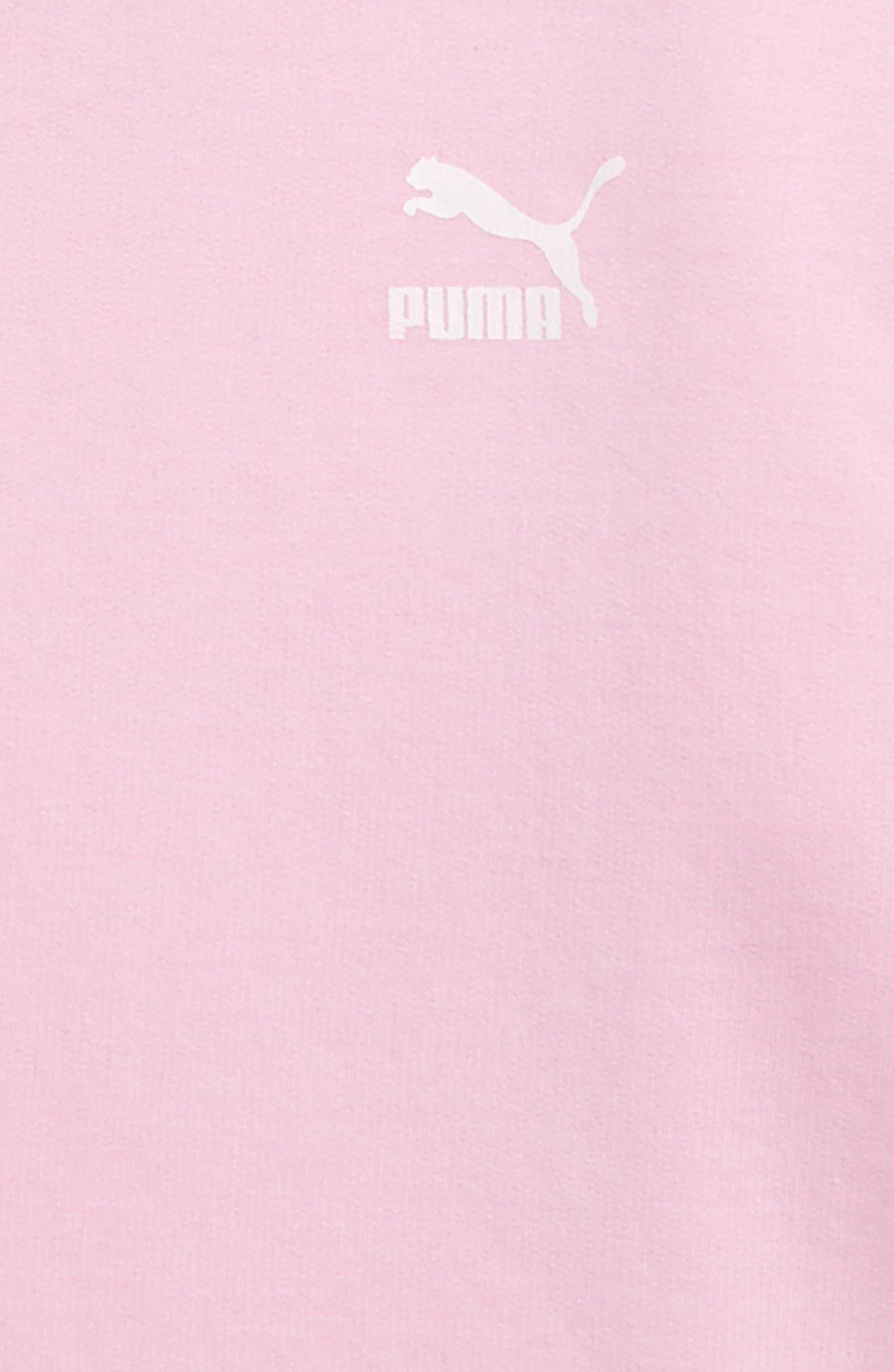 PUMA,                             Oversize Fleece Pullover,                             Alternate thumbnail 3, color,                             PALE PINK
