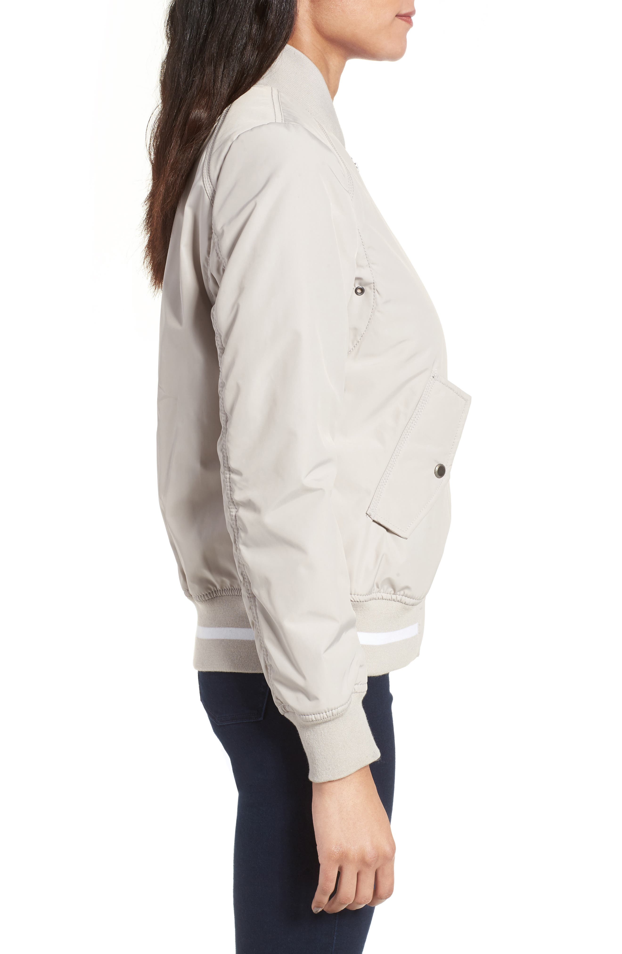 Foster Nylon Twill Bomber Jacket,                             Alternate thumbnail 11, color,