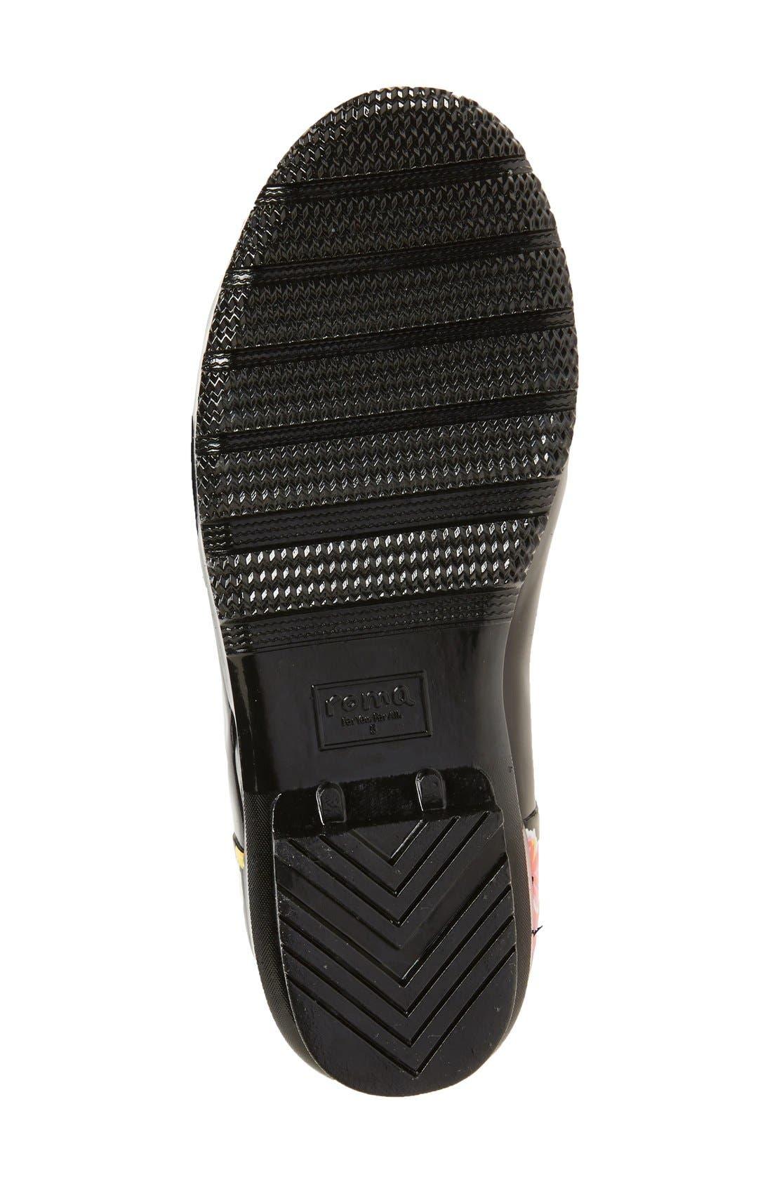 'Opinca' Waterproof Rain Boot,                             Alternate thumbnail 4, color,                             003