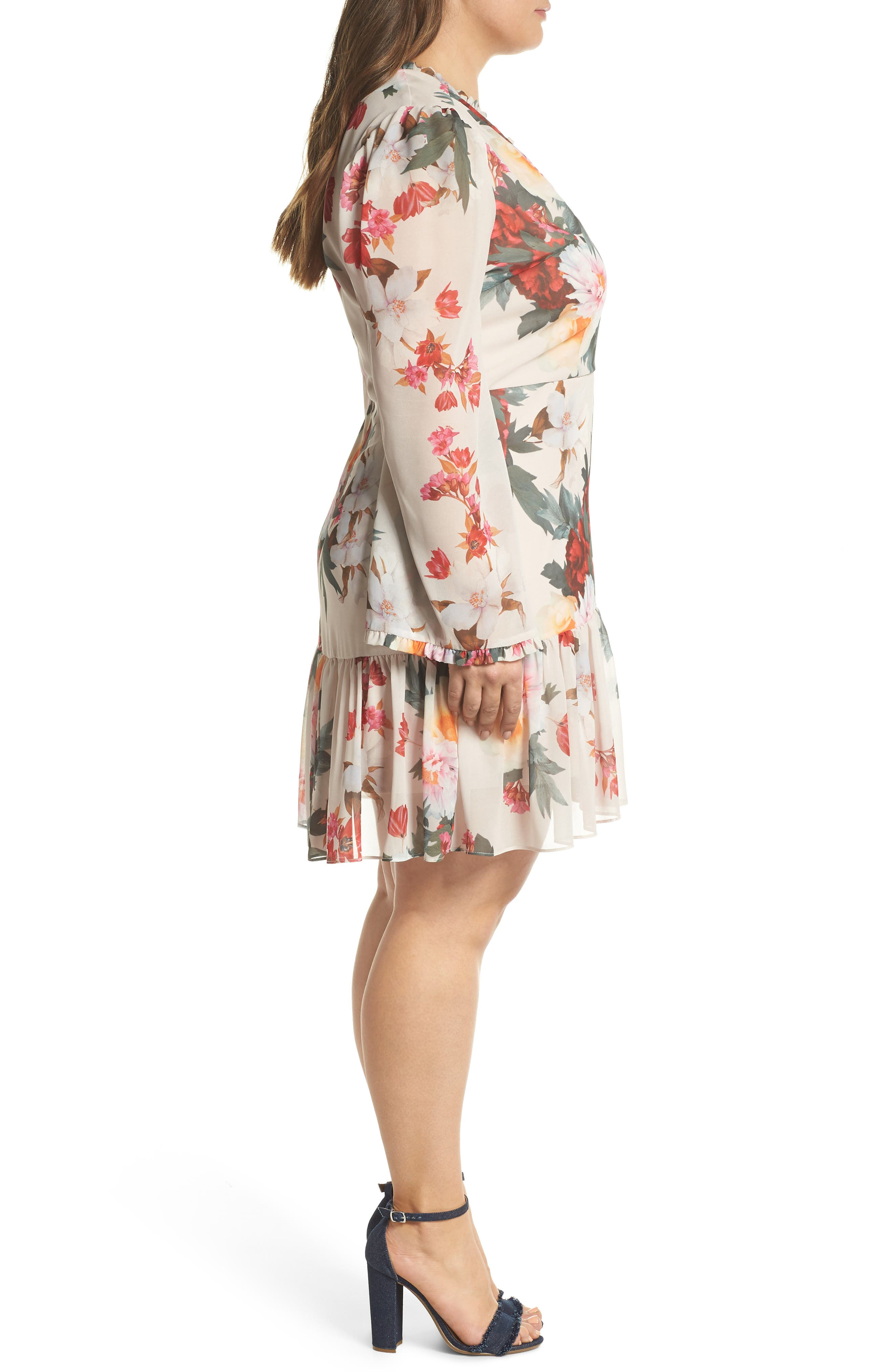 COOPER ST,                             Rosa Floral Chiffon Minidress,                             Alternate thumbnail 3, color,                             250