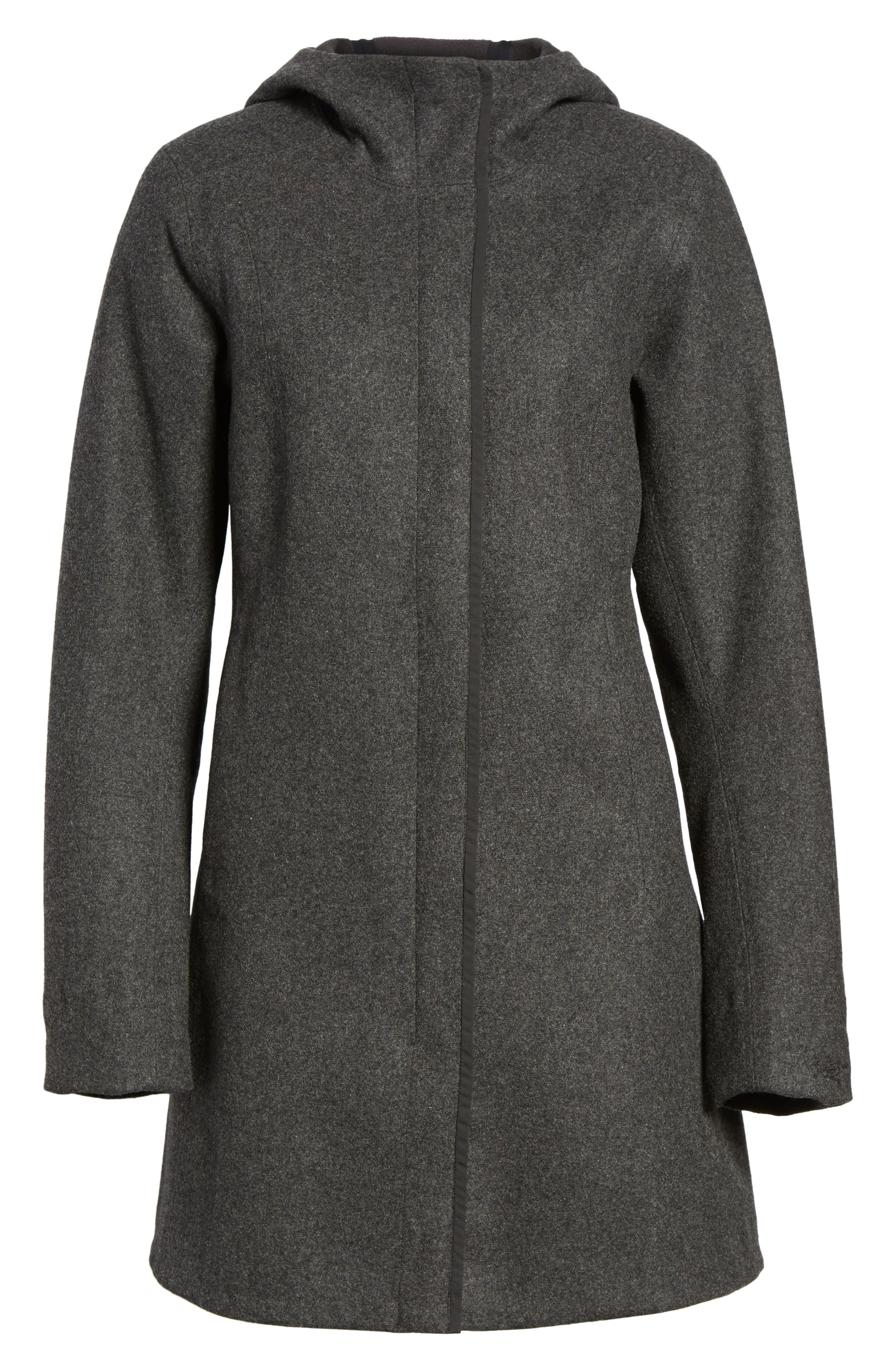 Embra Hooded Walking Coat,                             Alternate thumbnail 5, color,                             001