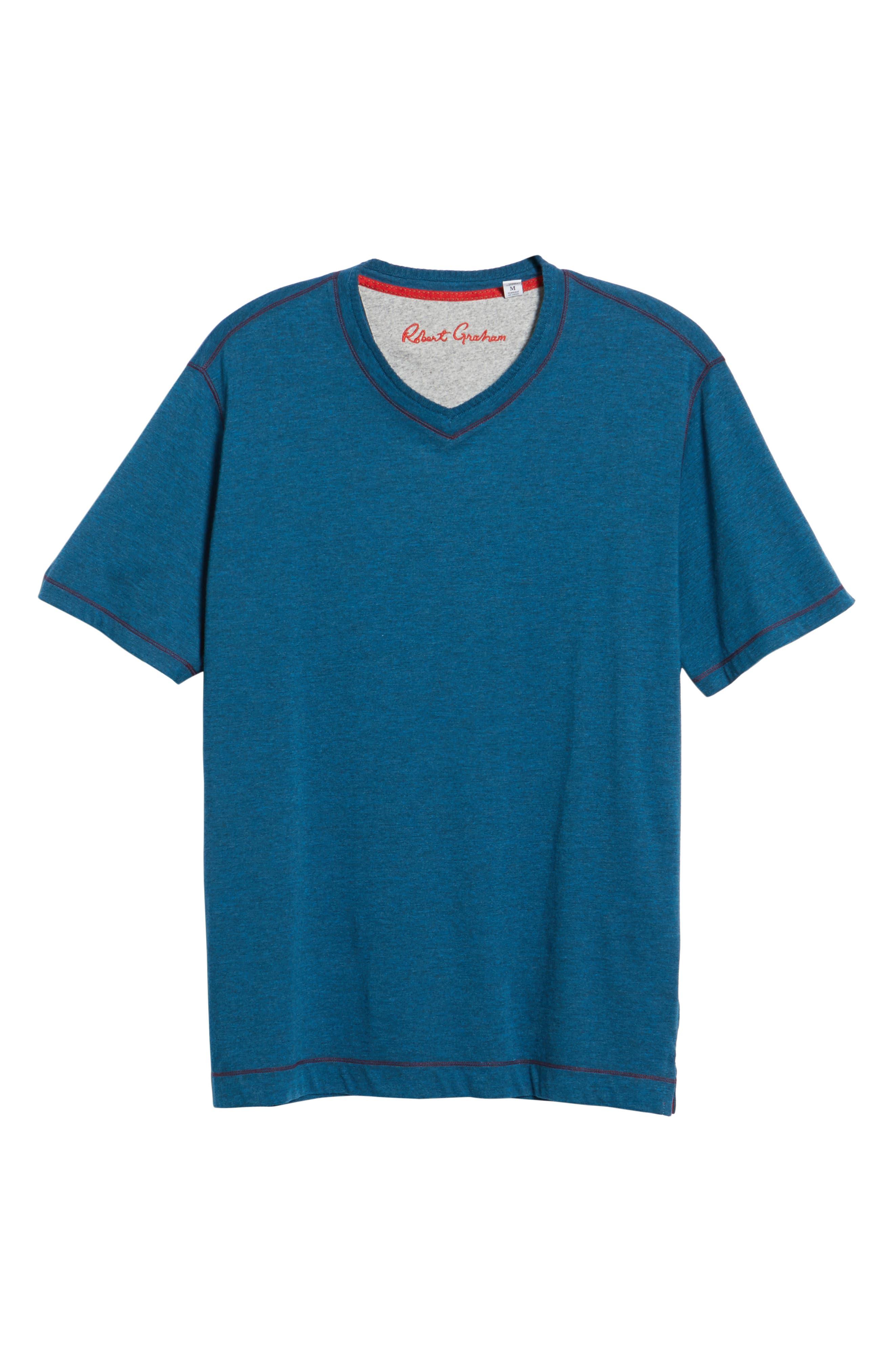 Traveler V-Neck T-Shirt,                             Alternate thumbnail 6, color,                             DARK TEAL