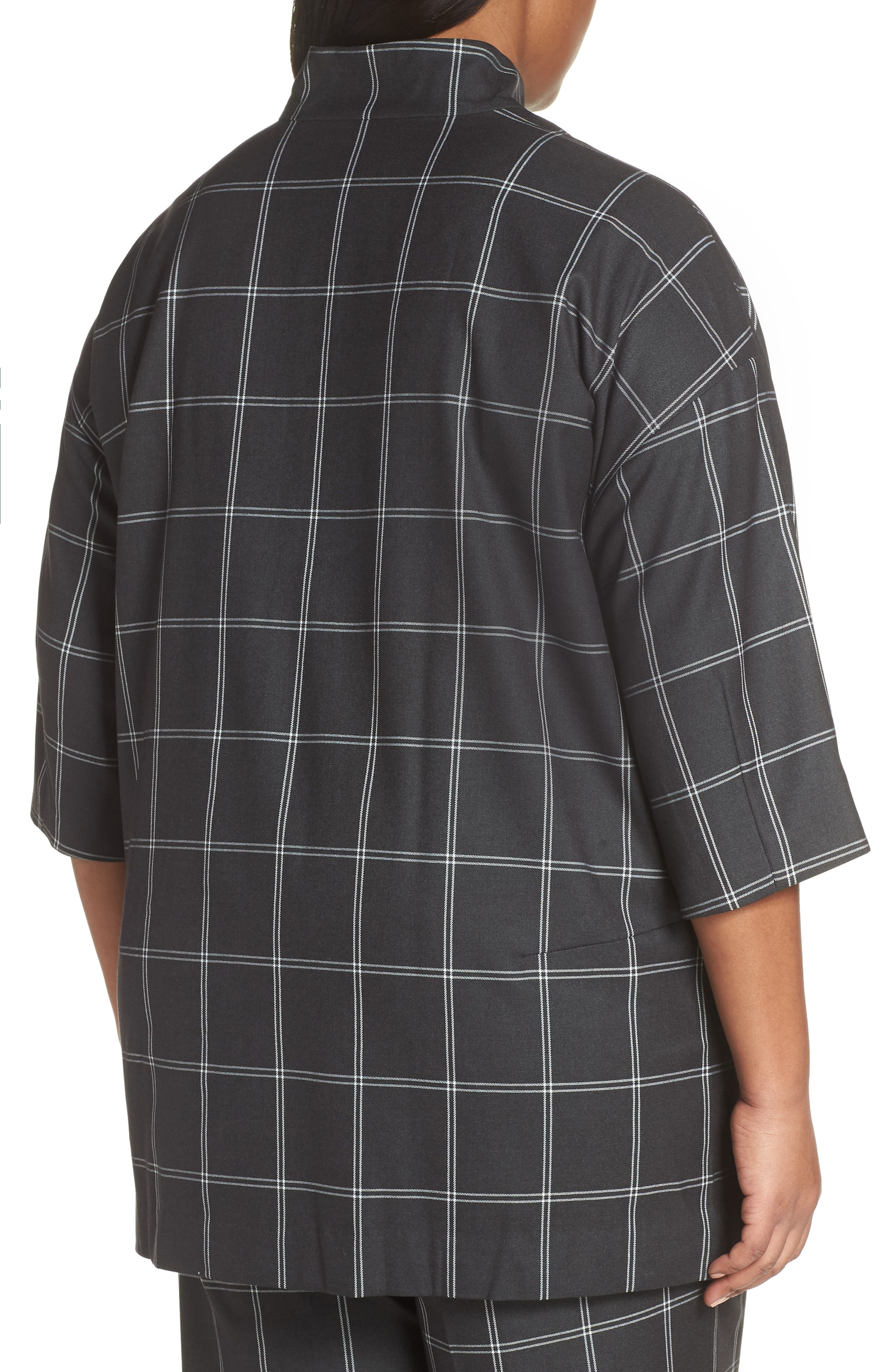 Windowpane Topper Jacket,                             Alternate thumbnail 2, color,                             GREY TWILL PLAID