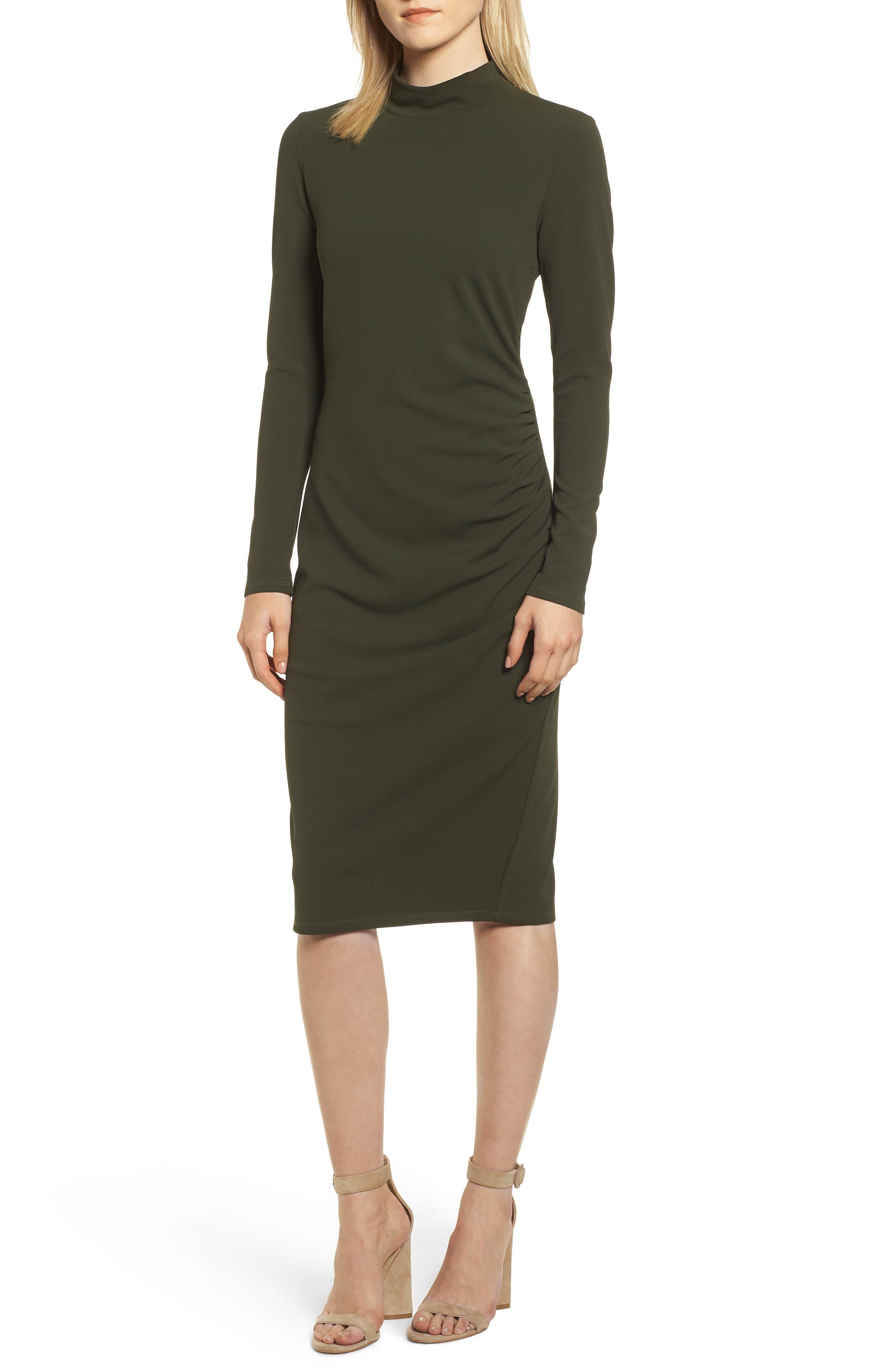 Chelsea28 Mock Neck Body-Con Dress